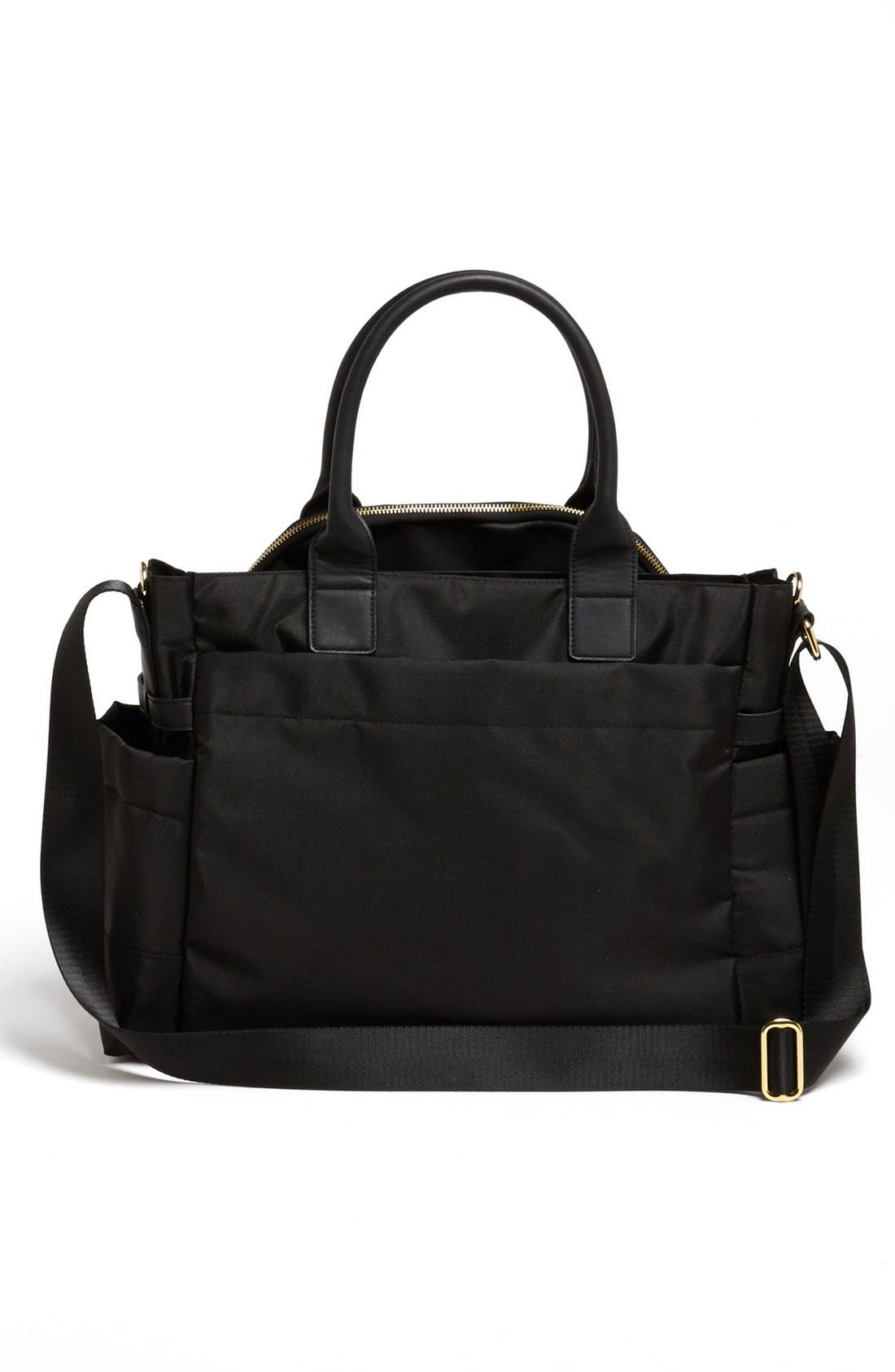 SKIP HOP, 'Chelsea' Diaper Bag, Alternate thumbnail 4, color, BLACK