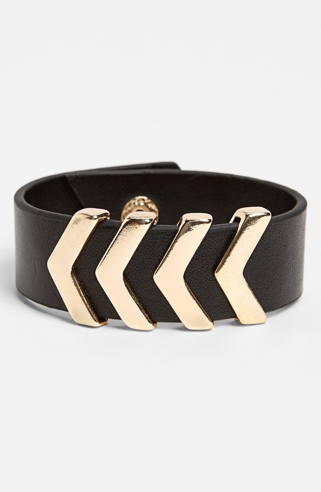 BP., 'Arrow' Bracelet, Main thumbnail 1, color, 001