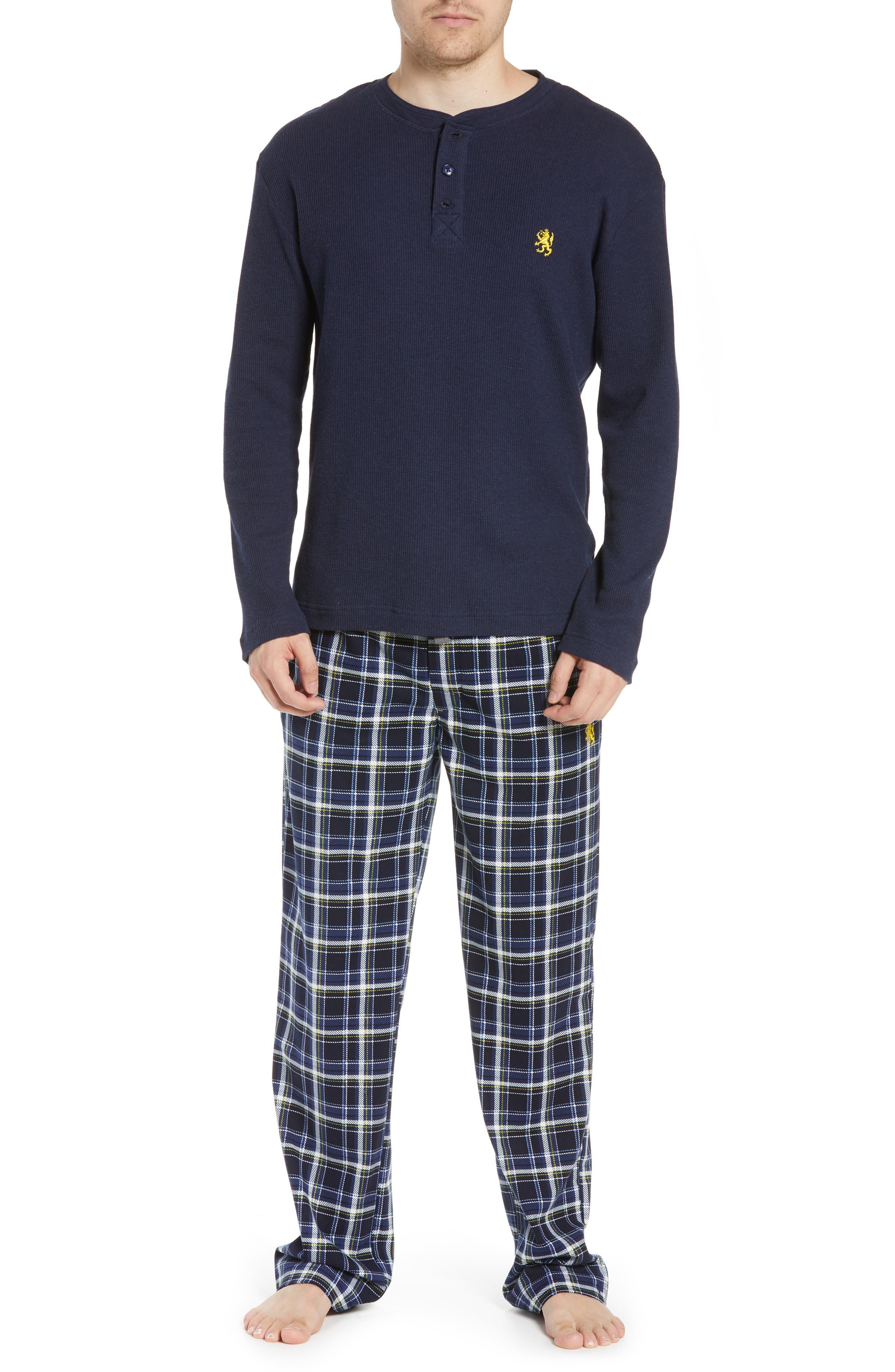 MAJESTIC INTERNATIONAL Take It Outside 2-Piece Pajamas, Main, color, BLUE
