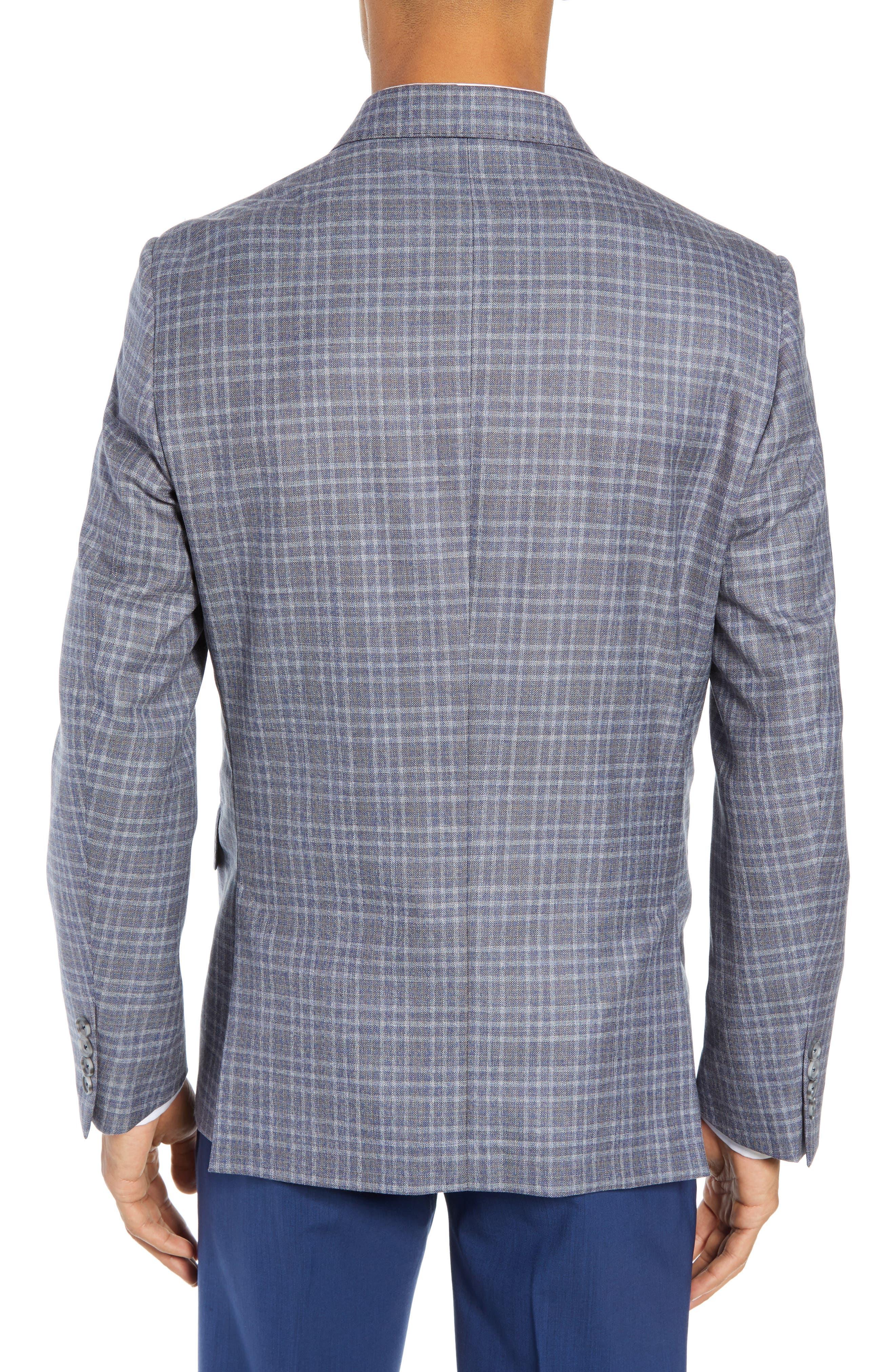 JOHN W. NORDSTROM<SUP>®</SUP>, Classic Fit Plaid Wool Sport Coat, Alternate thumbnail 2, color, 420