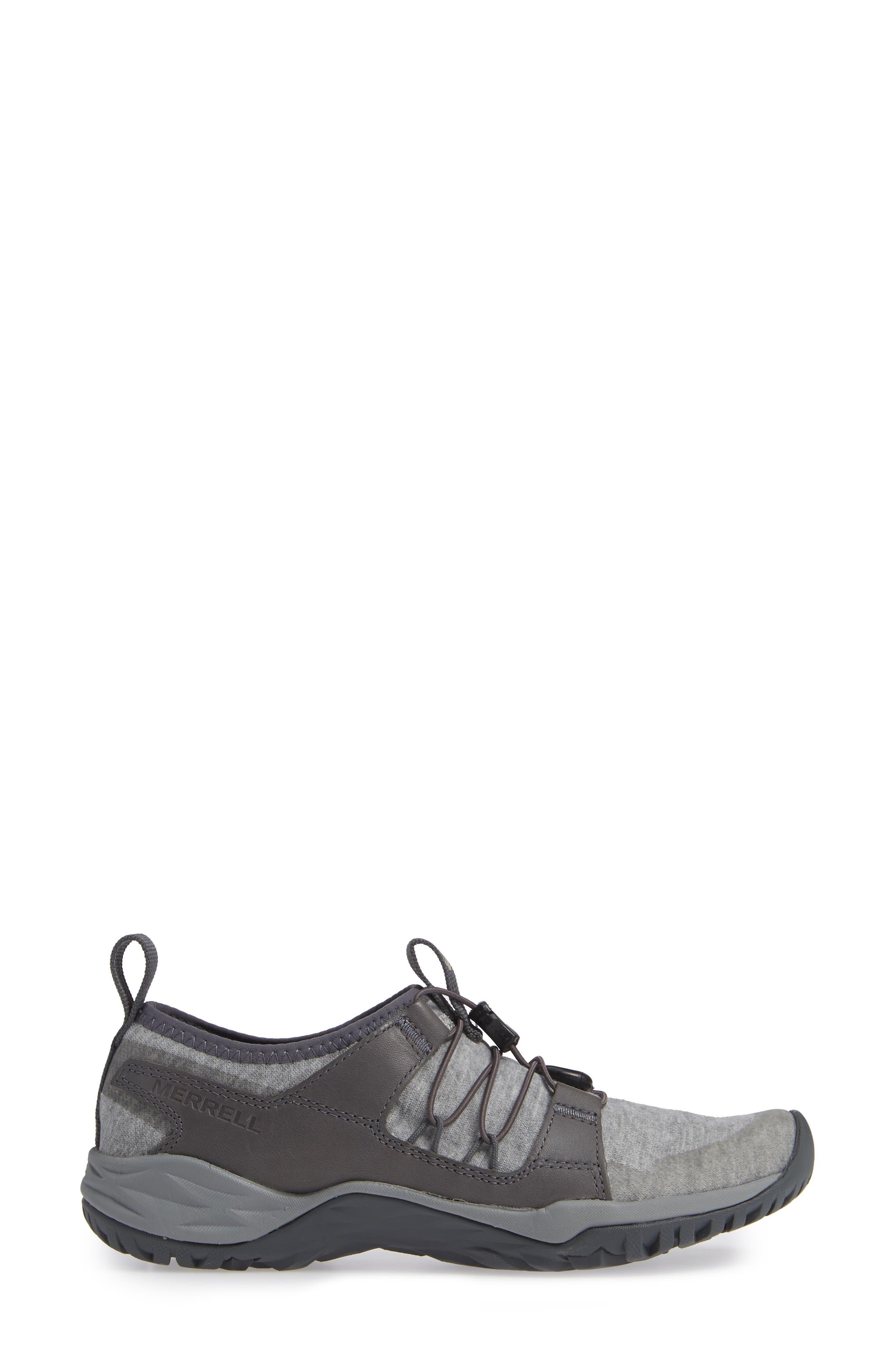MERRELL, Siren Guided Knit Q2 Sneaker, Alternate thumbnail 3, color, 050
