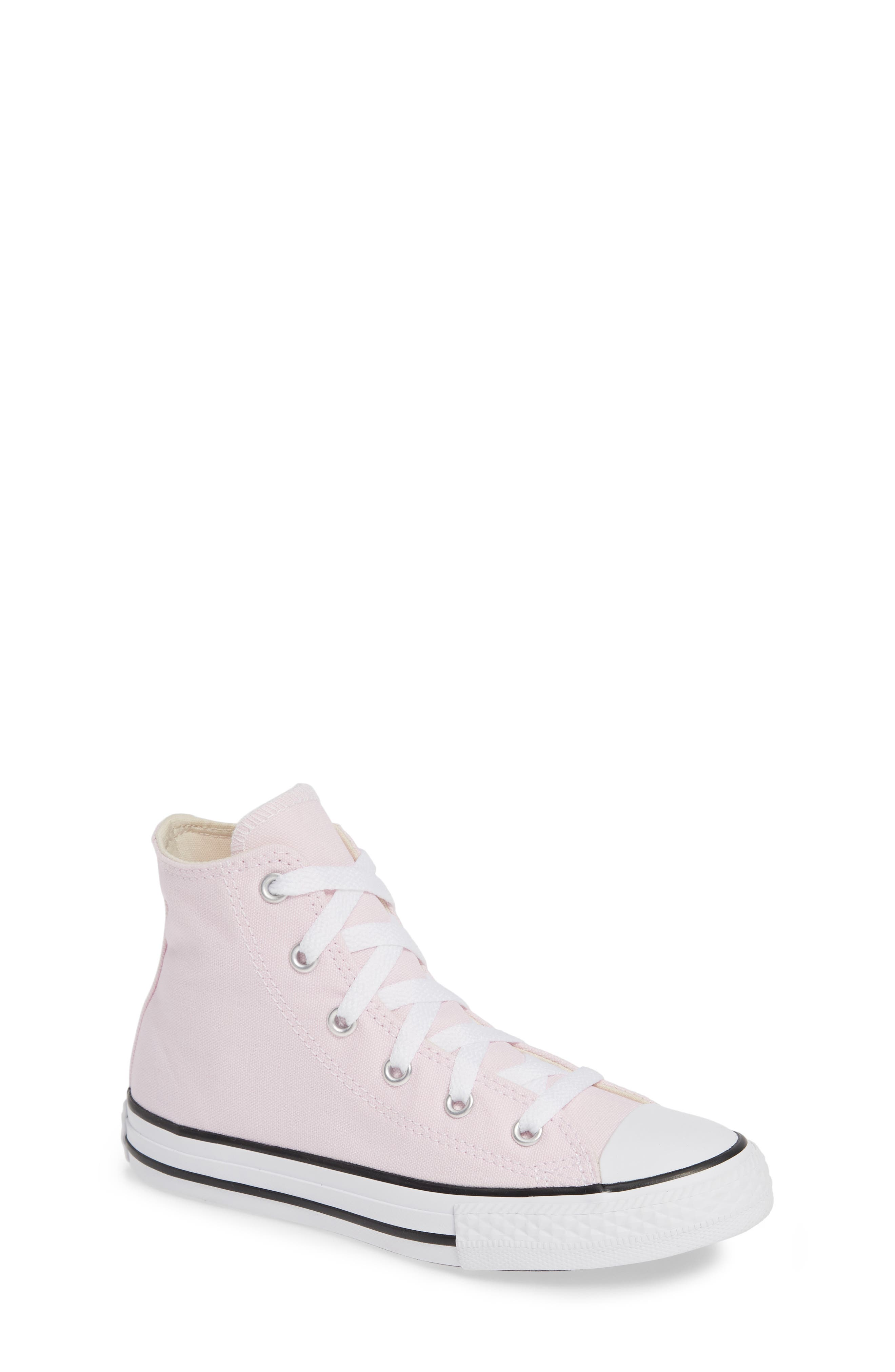 CONVERSE, Chuck Taylor<sup>®</sup> High Top Sneaker, Main thumbnail 1, color, PINK FOAM/ IVORY/ WHITE