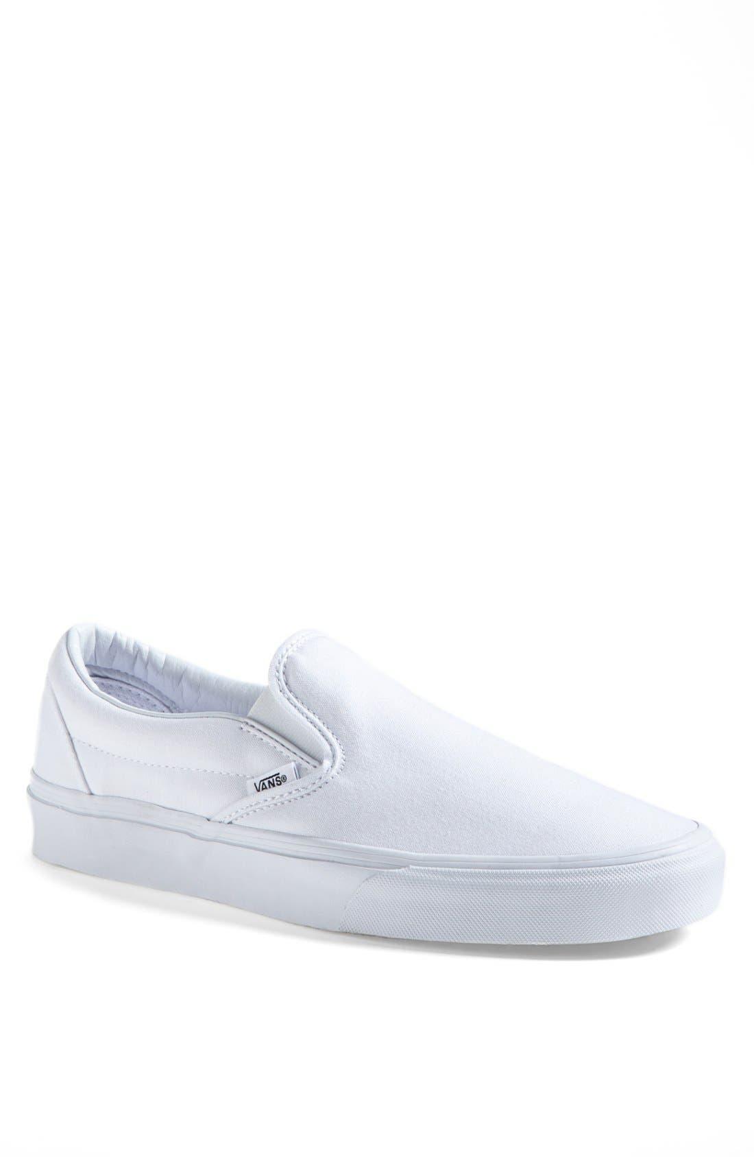 VANS Classic Slip-On, Main, color, TRUE WHITE