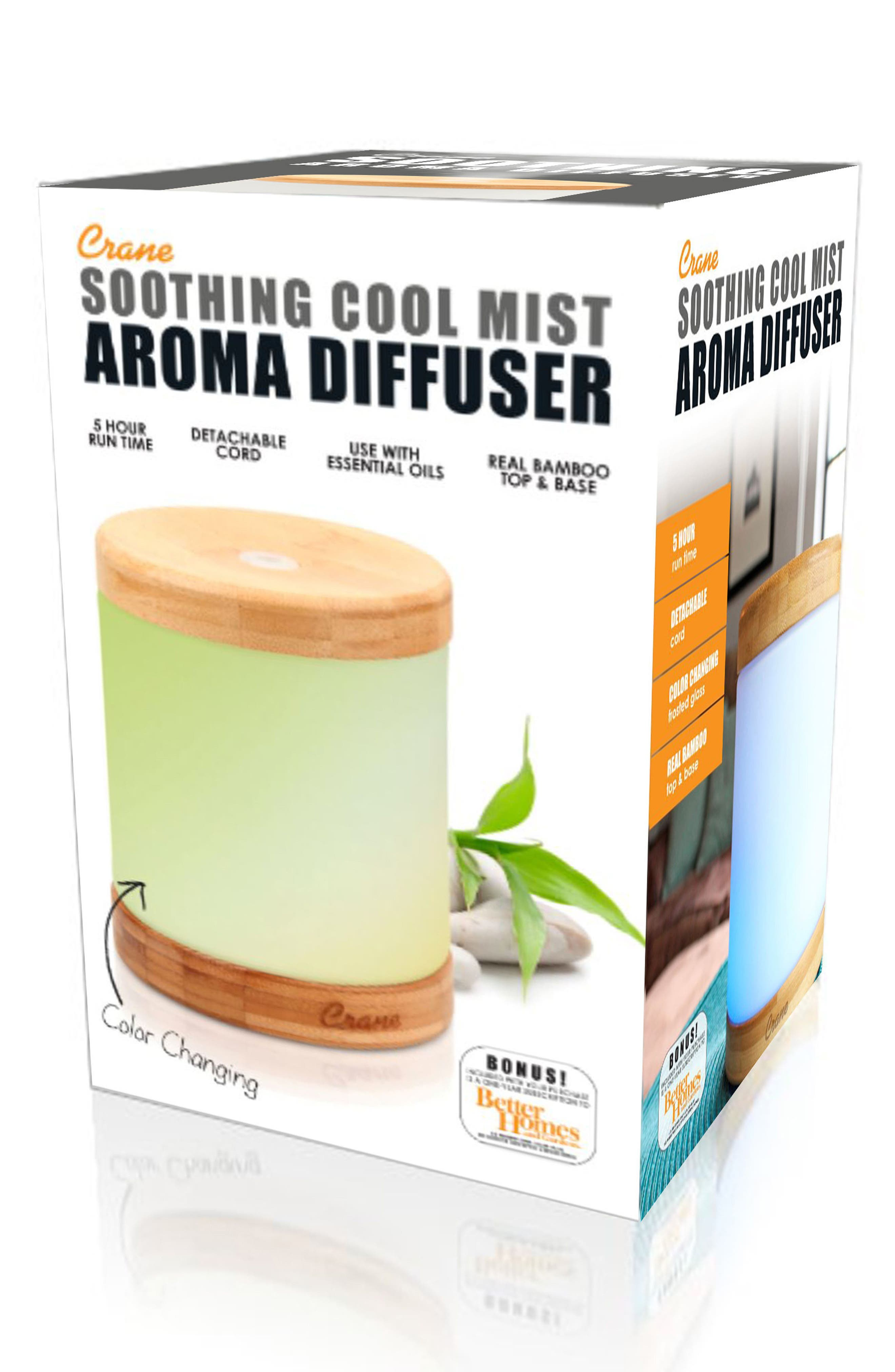 CRANE AIR, Ultrasonic Cool Mist Soothing Aroma Diffuser, Alternate thumbnail 2, color, WHITE