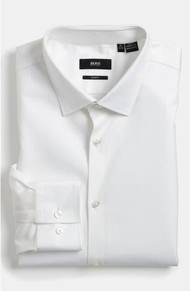 7700dc7c6 BOSS 'Jenno' Slim Fit Herringbone Dress Shirt   Nordstrom