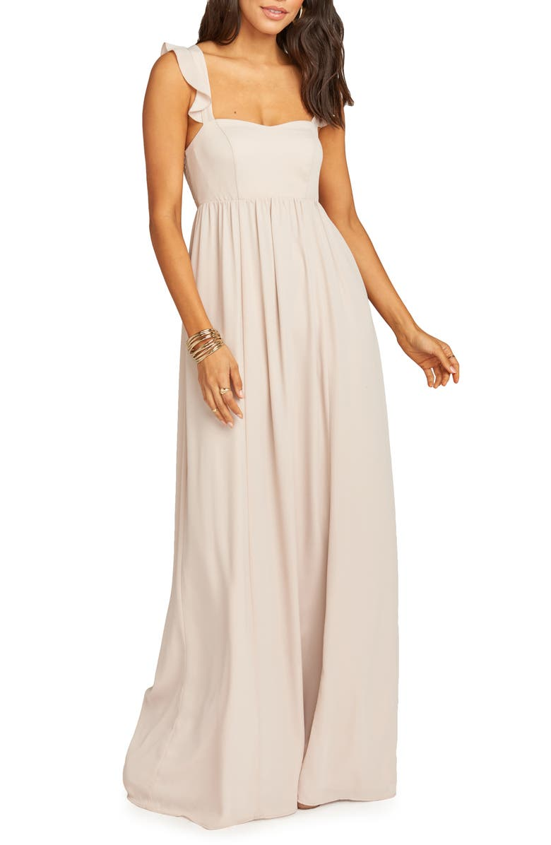 Show Me Your Mumu Dresses JUNE RUFFLE STRAP EVENING DRESS