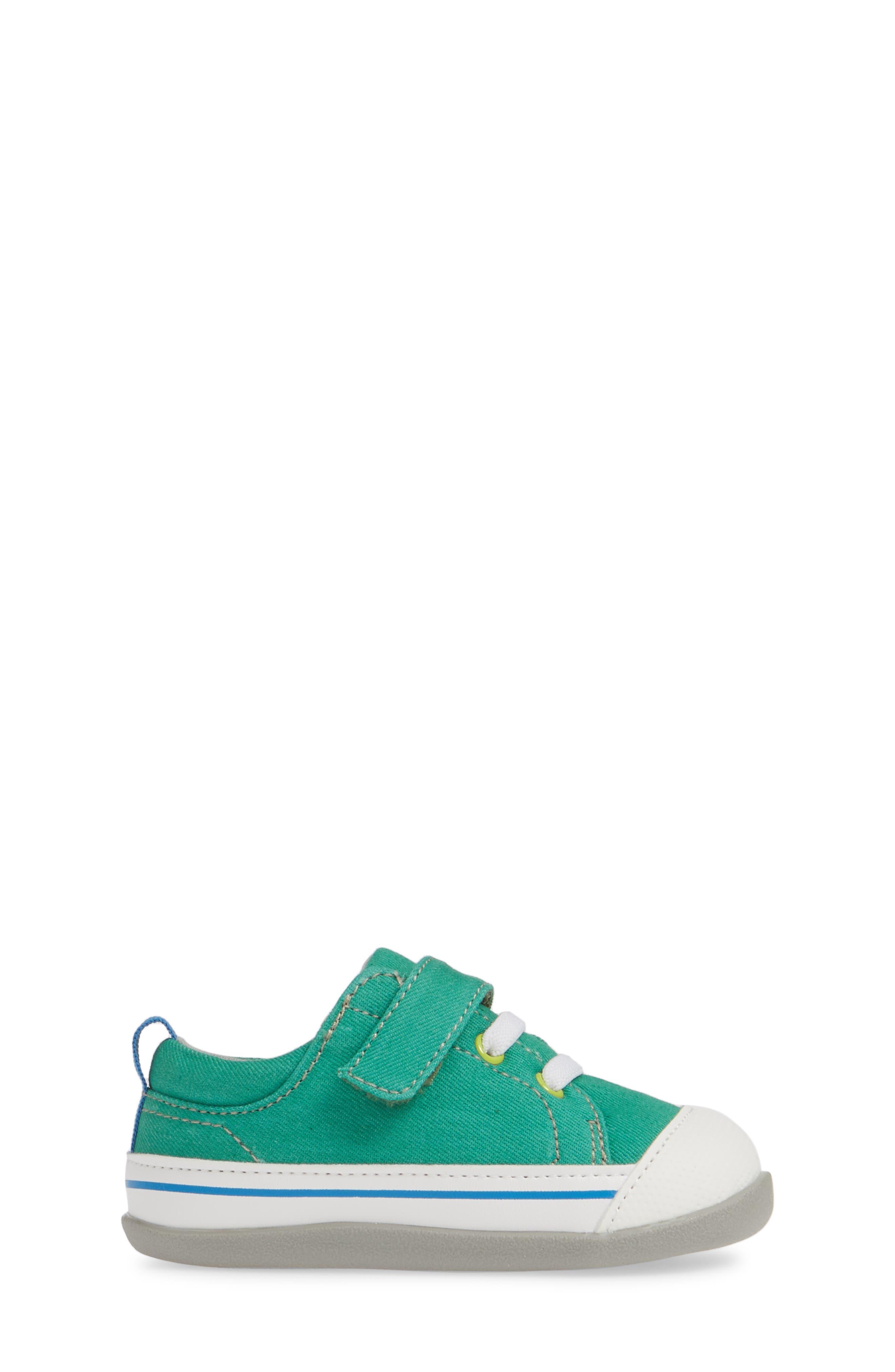 SEE KAI RUN, Stevie II Sneaker, Alternate thumbnail 3, color, GREEN/ GREEN DENIM