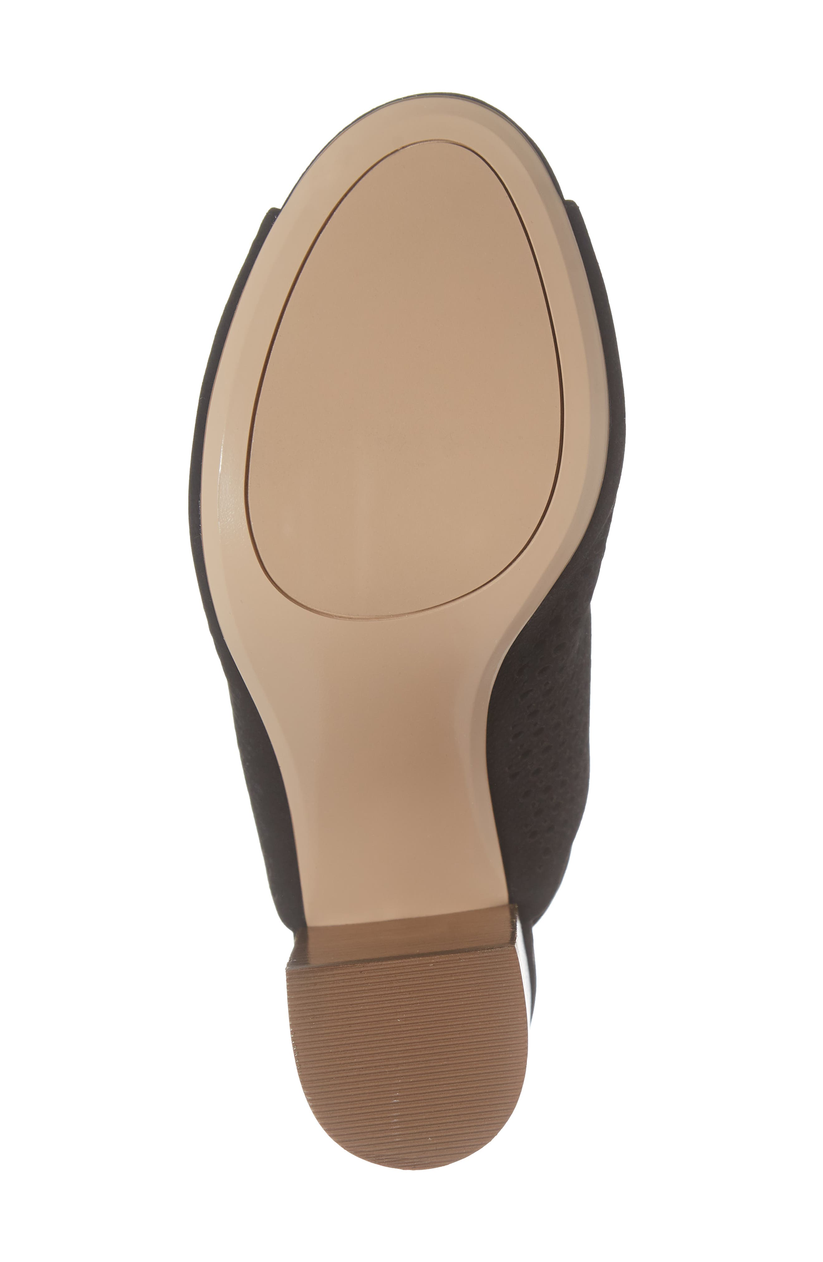 HALOGEN<SUP>®</SUP>, Demi Perforated Shield Sandal, Alternate thumbnail 6, color, BLACK OILED NUBUCK