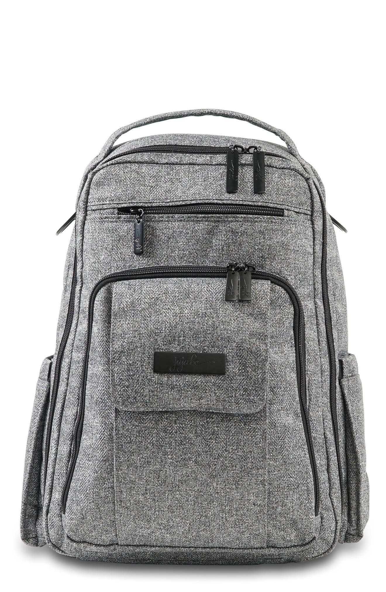 JU-JU-BE, 'Be Right Back - Onyx Collection' Diaper Backpack, Main thumbnail 1, color, GRAY MATTER