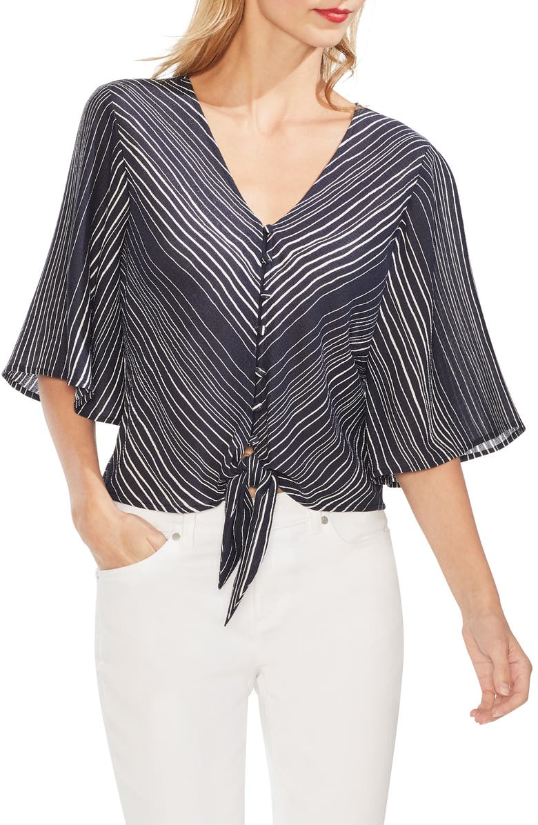 Vince Camuto Tops DELICATE STRANDS BELL SLEEVE BLOUSE