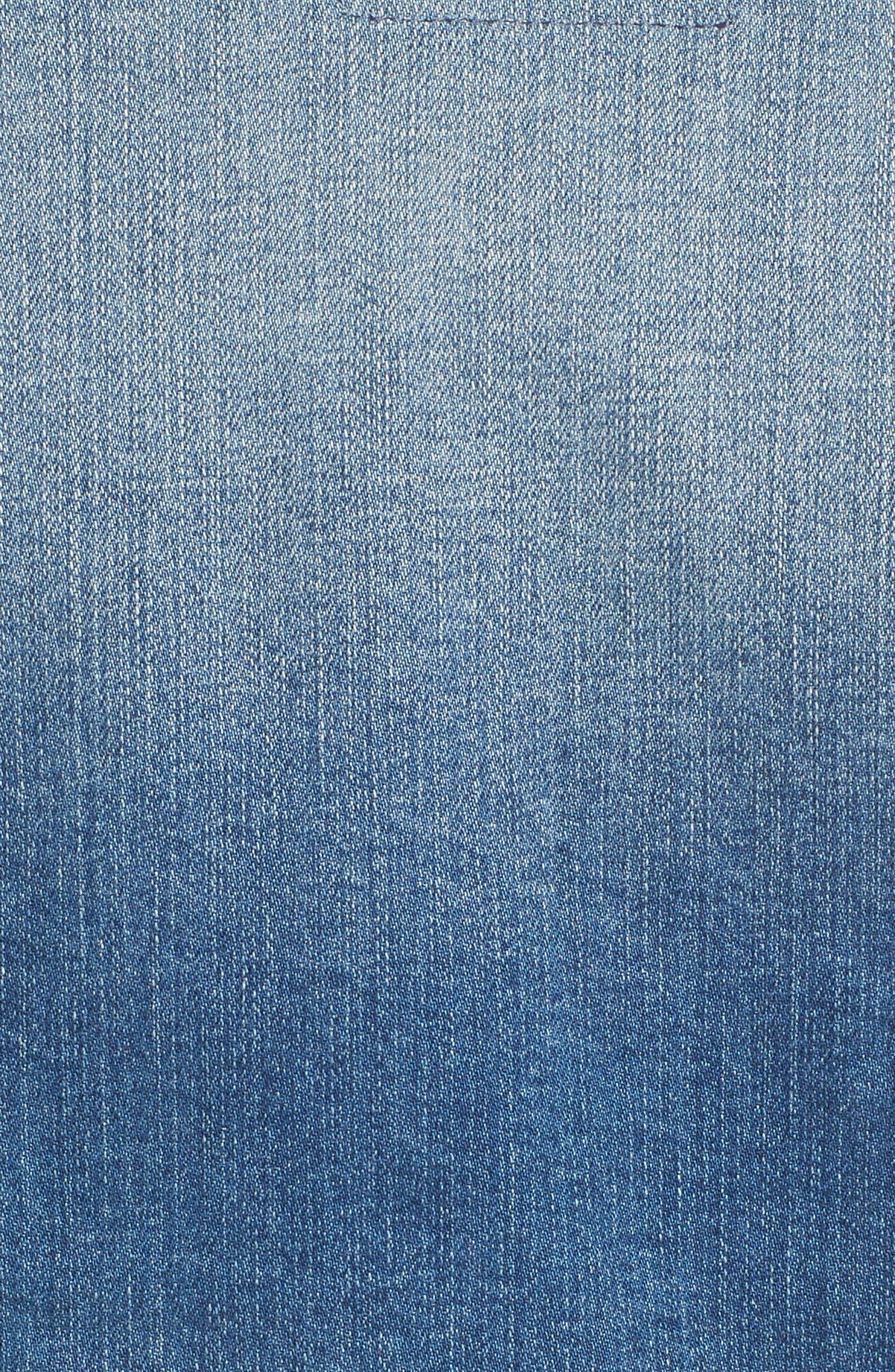 SLINK JEANS, Crop Denim Jacket, Alternate thumbnail 6, color, 482