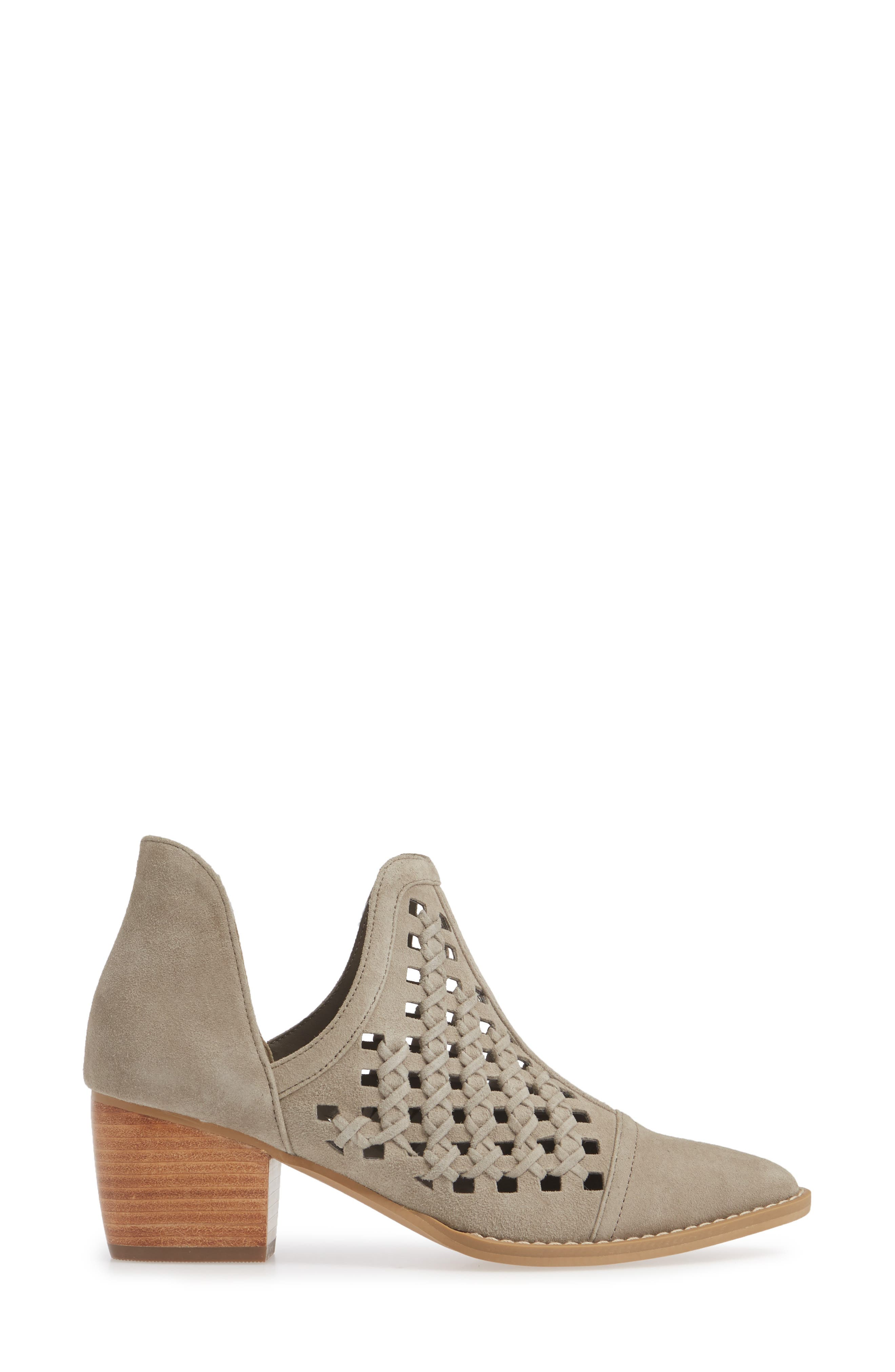 BP., Tate Bootie, Alternate thumbnail 3, color, TAUPE SUEDE