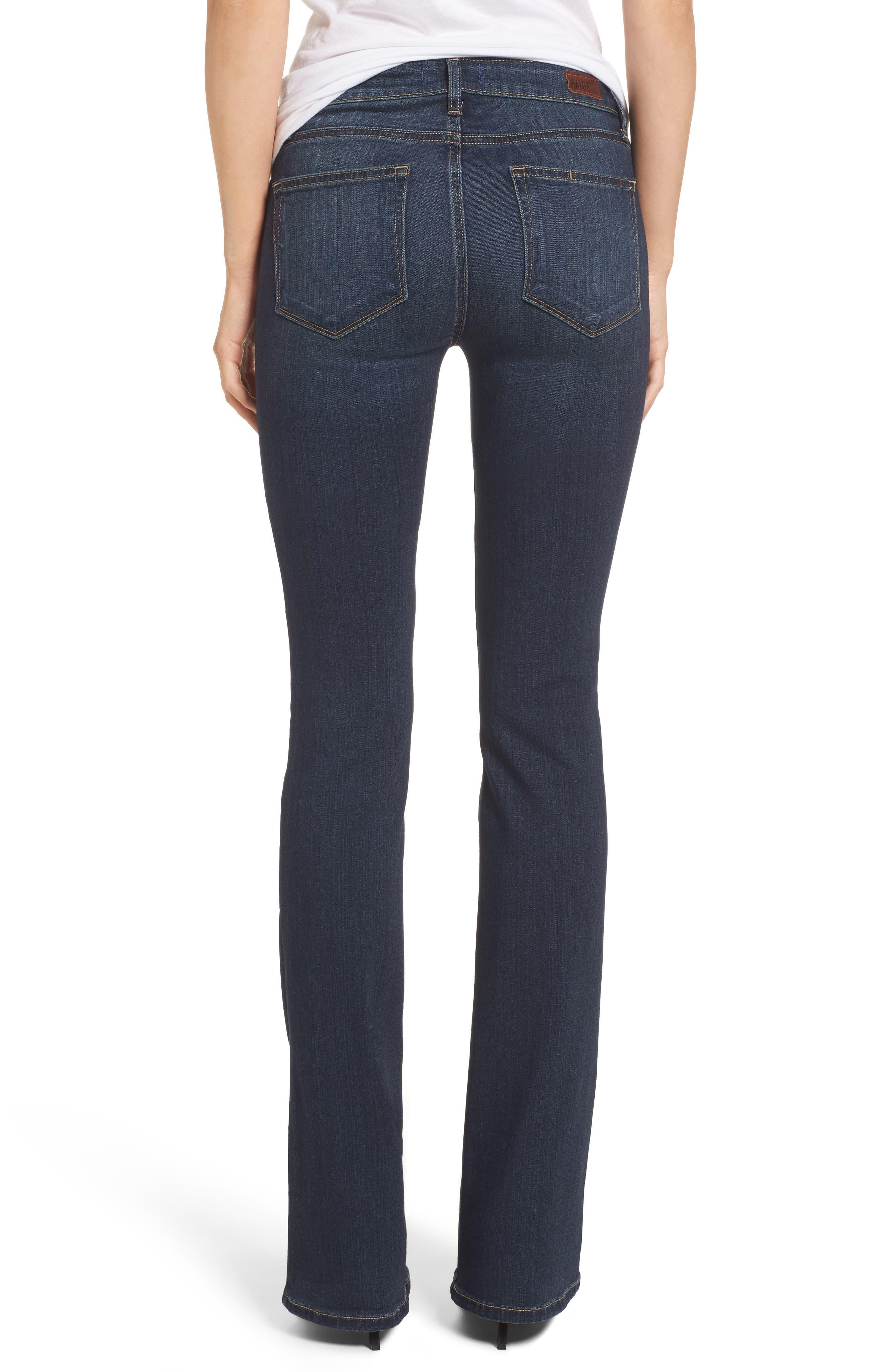 PAIGE, Transcend - Manhattan Bootcut Jeans, Alternate thumbnail 2, color, NOTTINGHAM