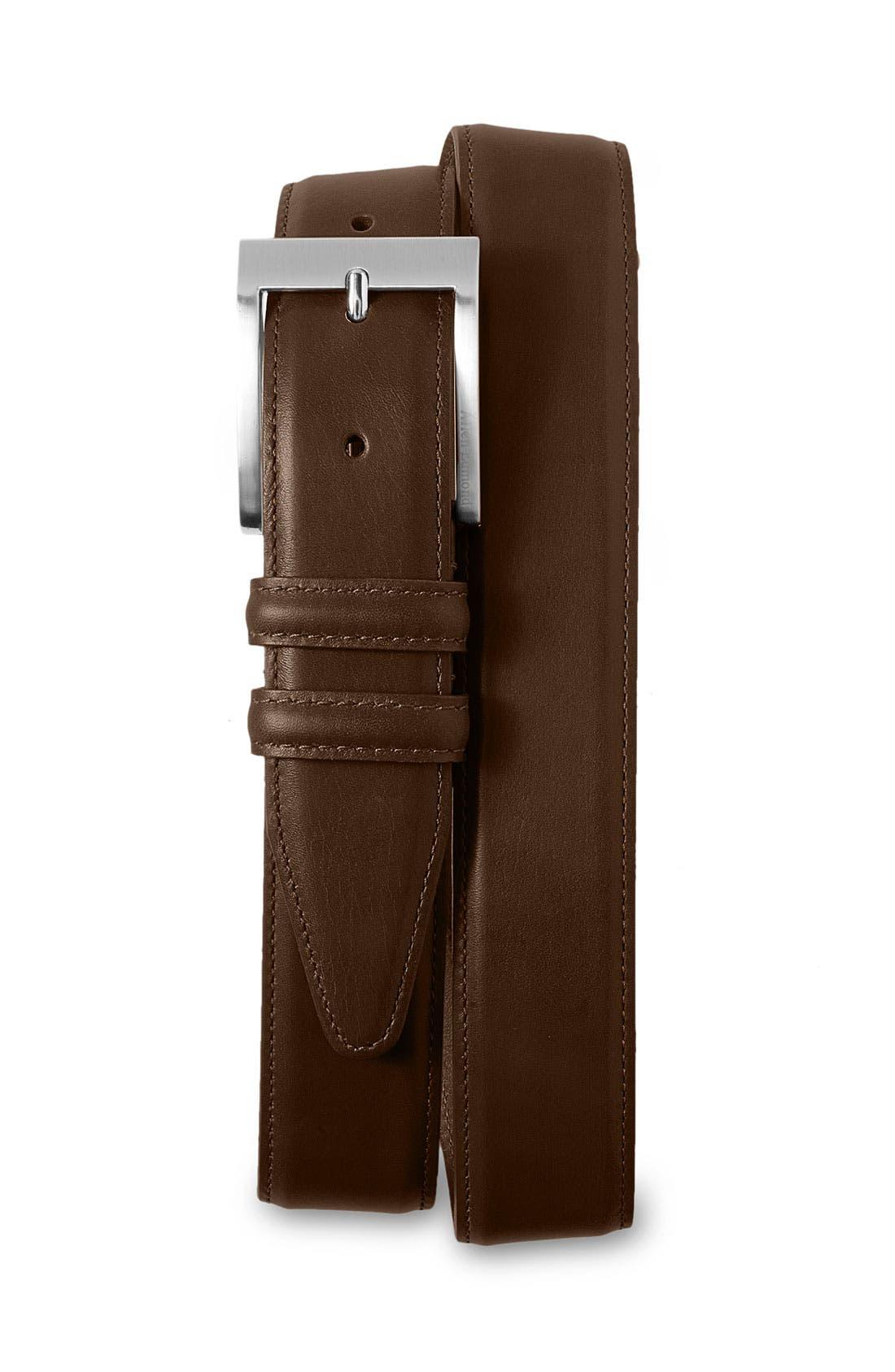 ALLEN EDMONDS Classic Wide Belt, Main, color, DARK BROWN