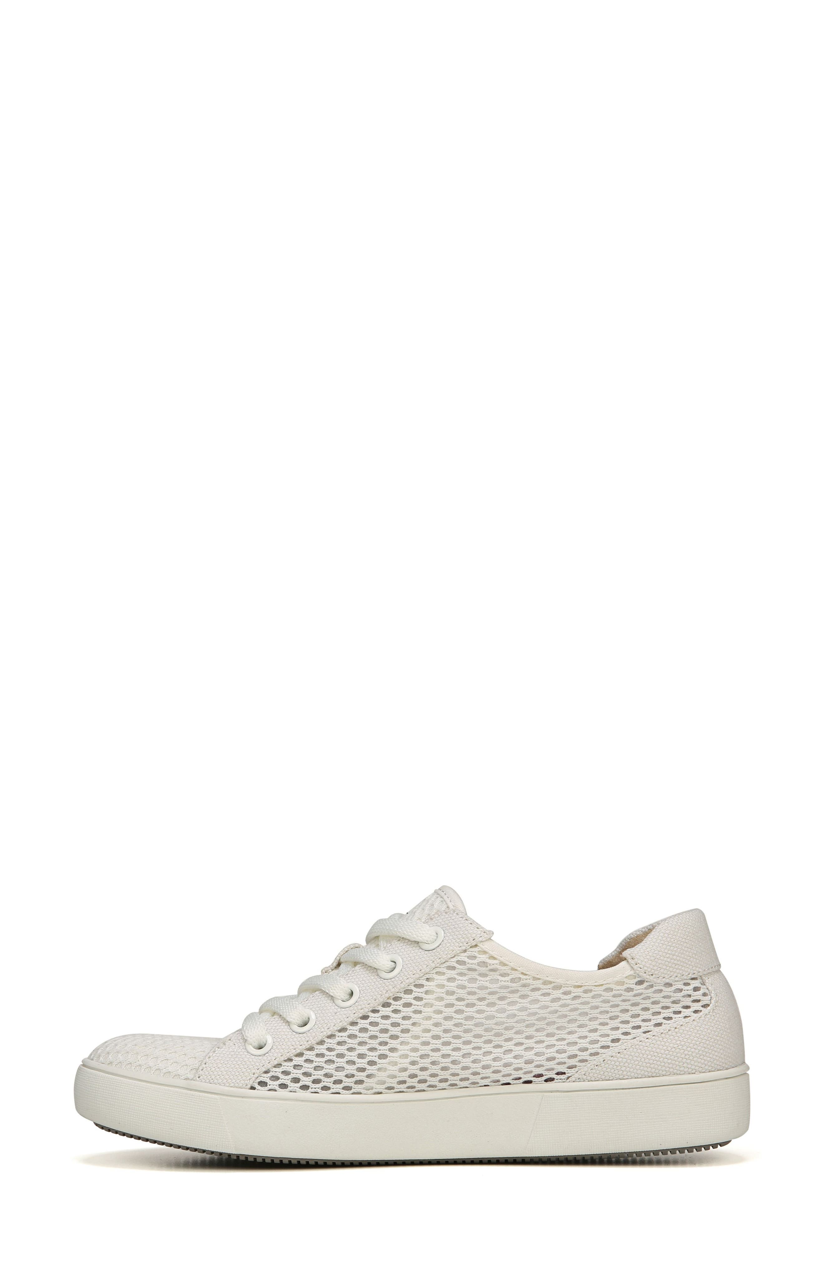 NATURALIZER, Morrison III Perforated Sneaker, Alternate thumbnail 3, color, WHITE FABRIC