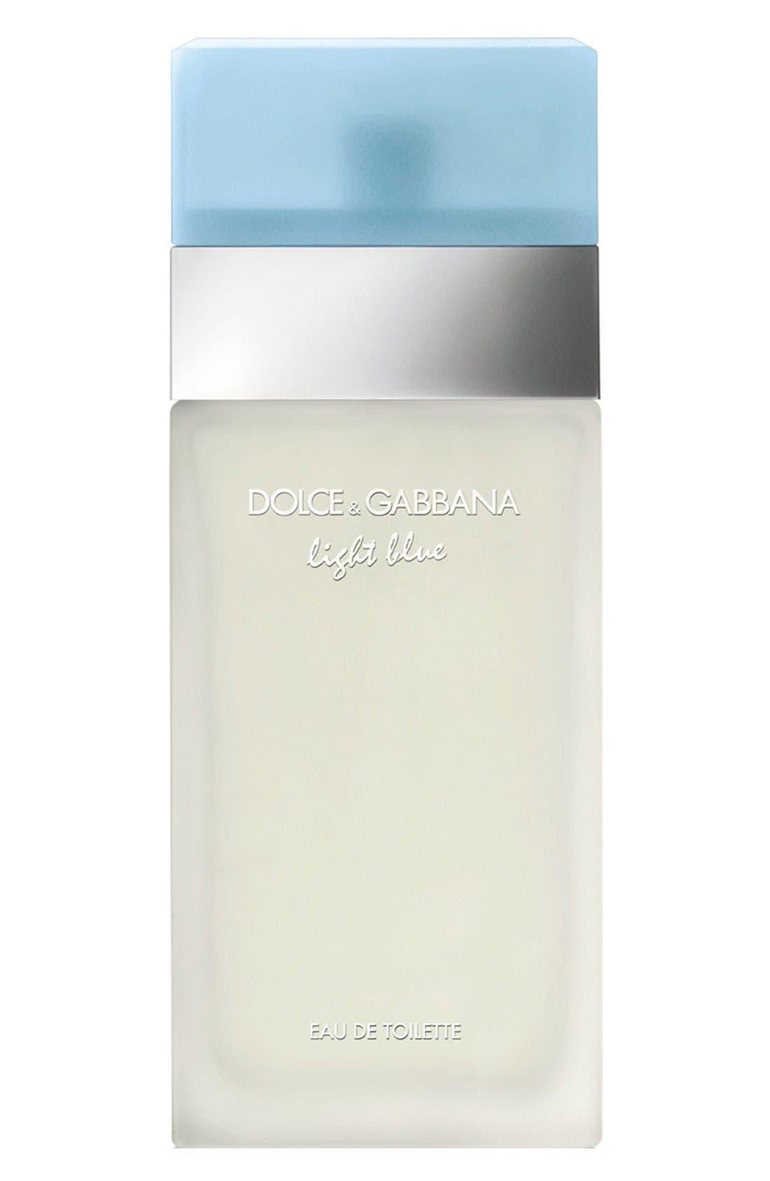 DOLCE&GABBANA BEAUTY, 'Light Blue' Eau de Toilette Spray, Main thumbnail 1, color, NO COLOR