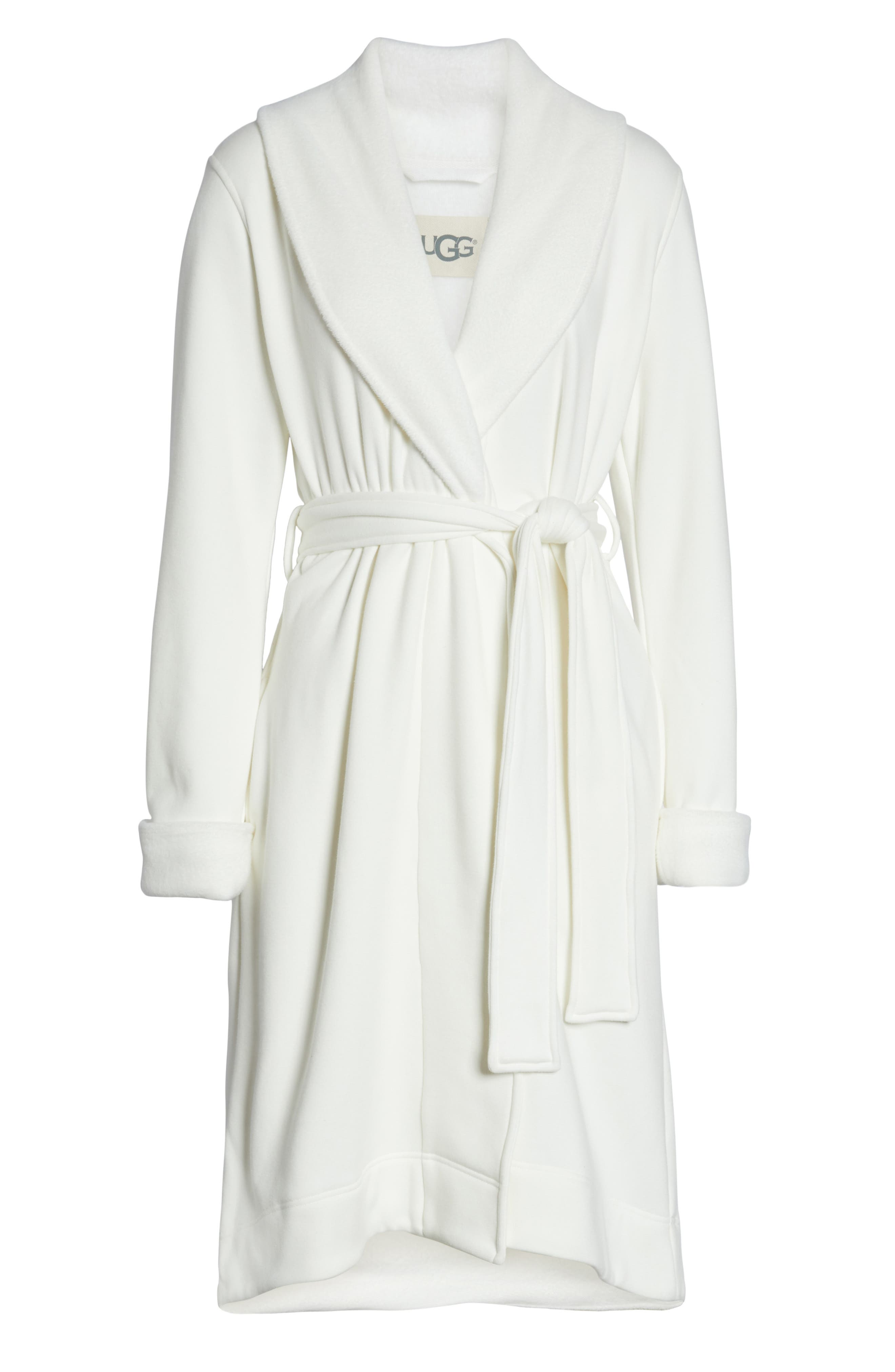 UGG<SUP>®</SUP>, Duffield II Robe, Alternate thumbnail 6, color, CHARCOAL