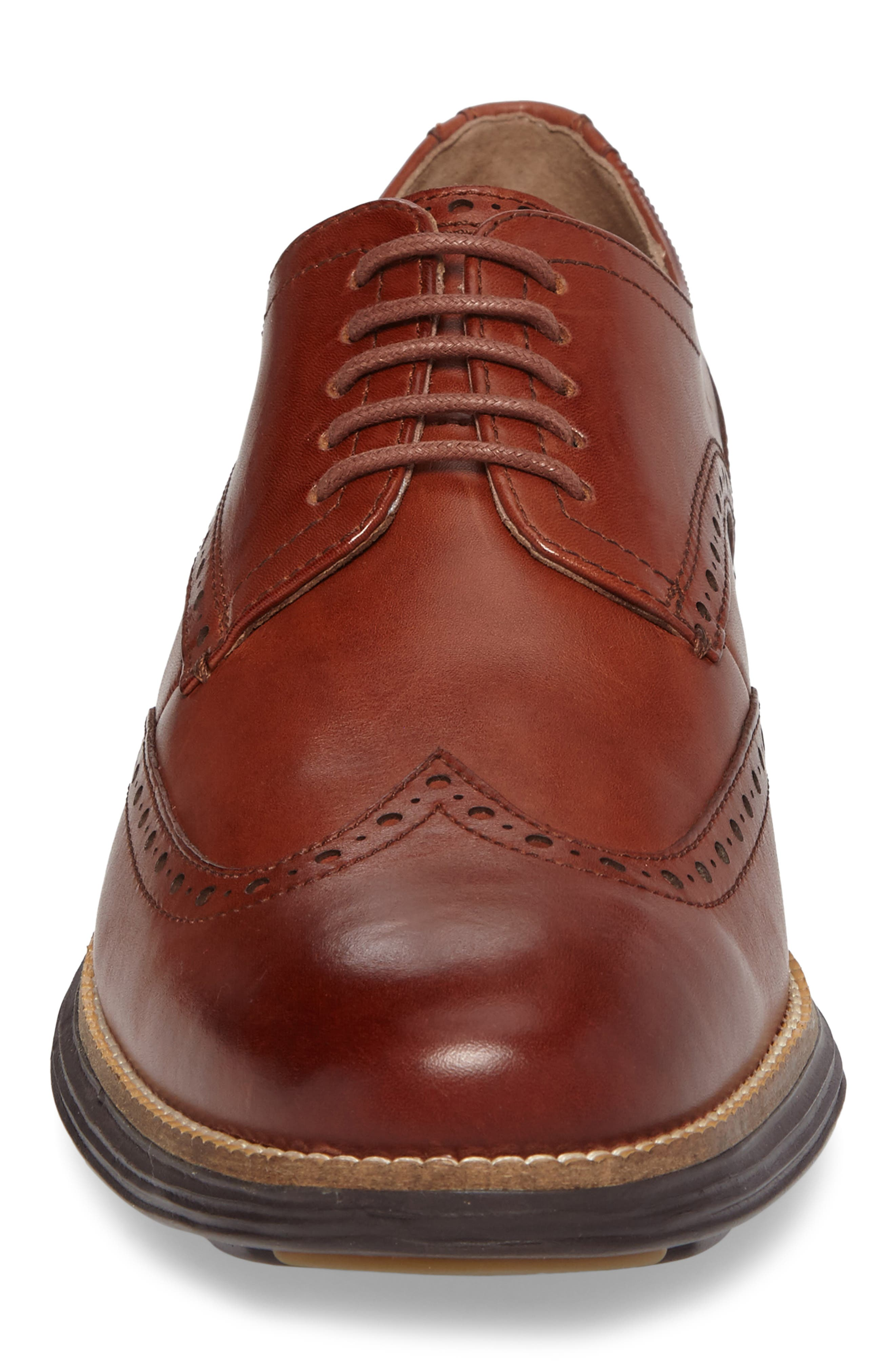 COLE HAAN, Original Grand Wingtip, Alternate thumbnail 4, color, WOODBURY/ JAVA LEATHER