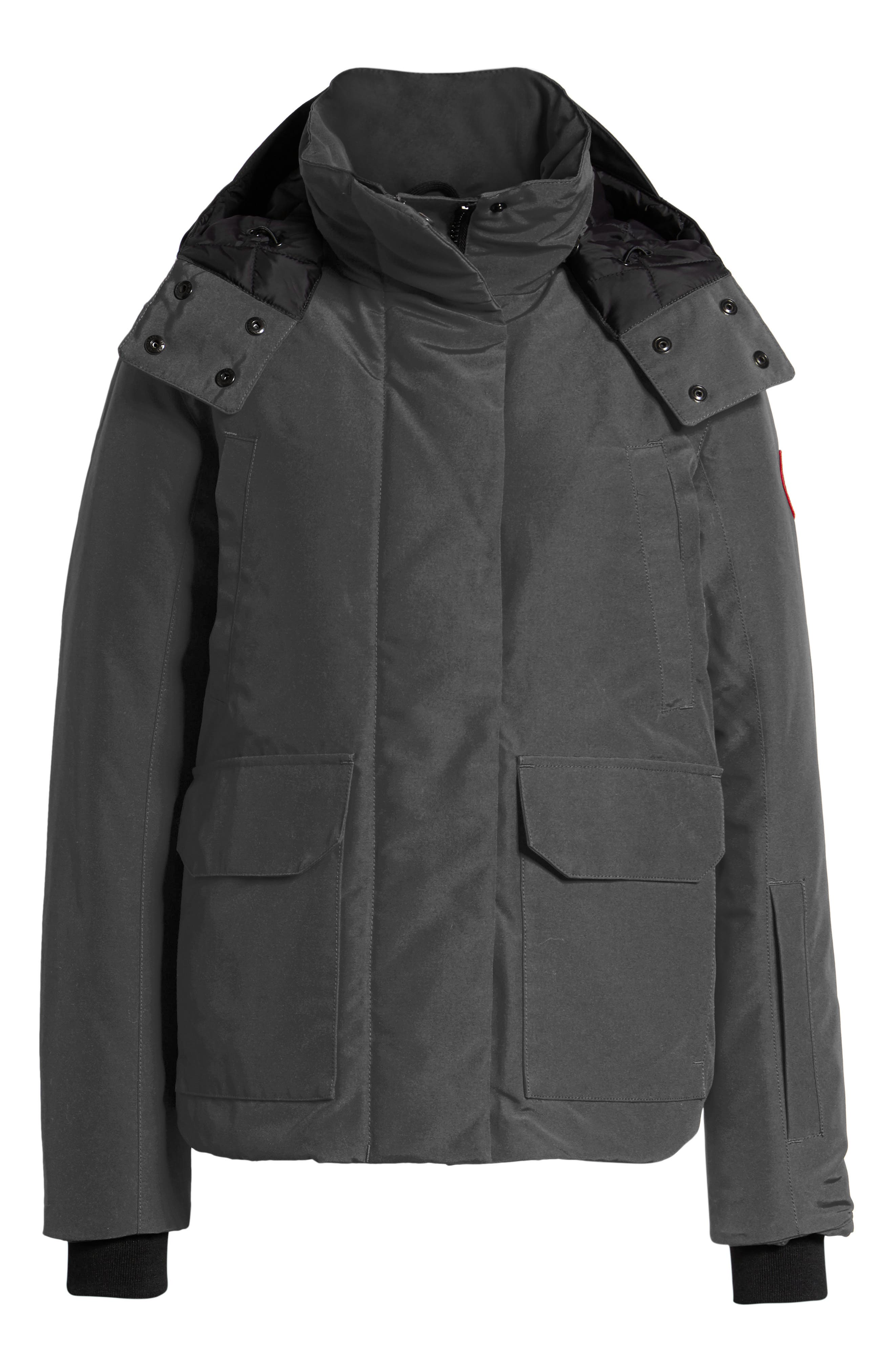 CANADA GOOSE, Blakely Water Resistant 625 Fill Power Down Parka, Alternate thumbnail 5, color, GRAPHITE