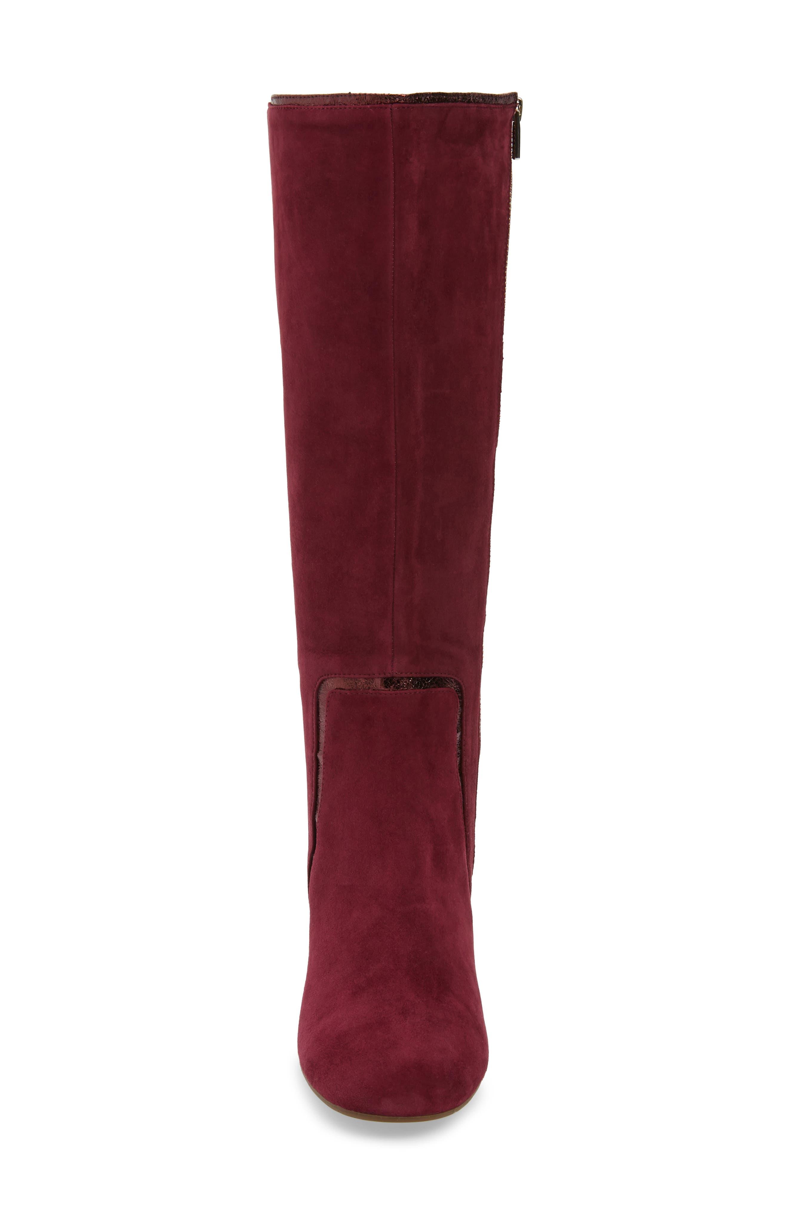 TARYN ROSE, Charlee Knee High Boot, Alternate thumbnail 4, color, FIG SUEDE