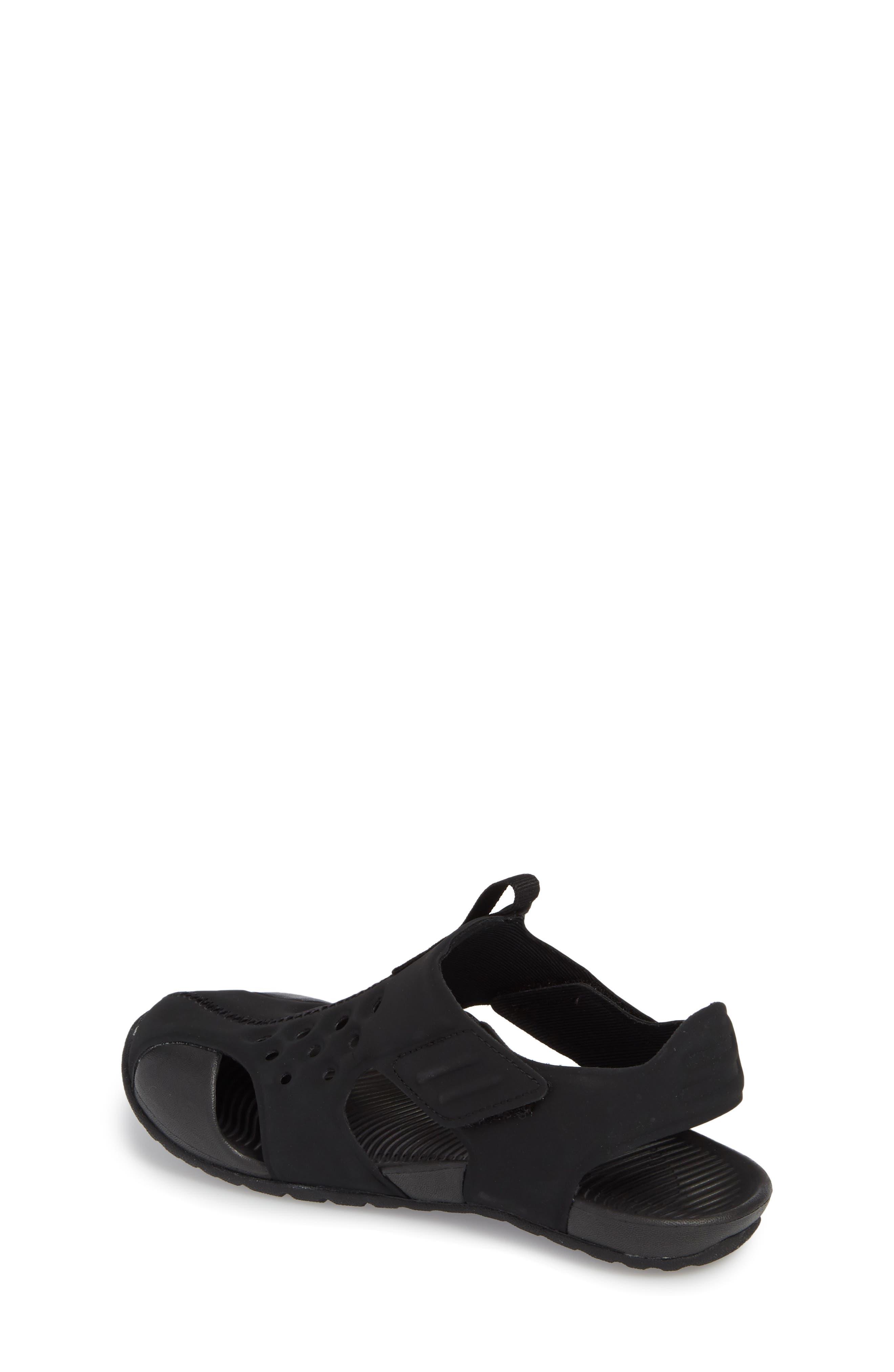 NIKE, Sunray Protect 2 Sandal, Alternate thumbnail 2, color, BLACK/ WHITE