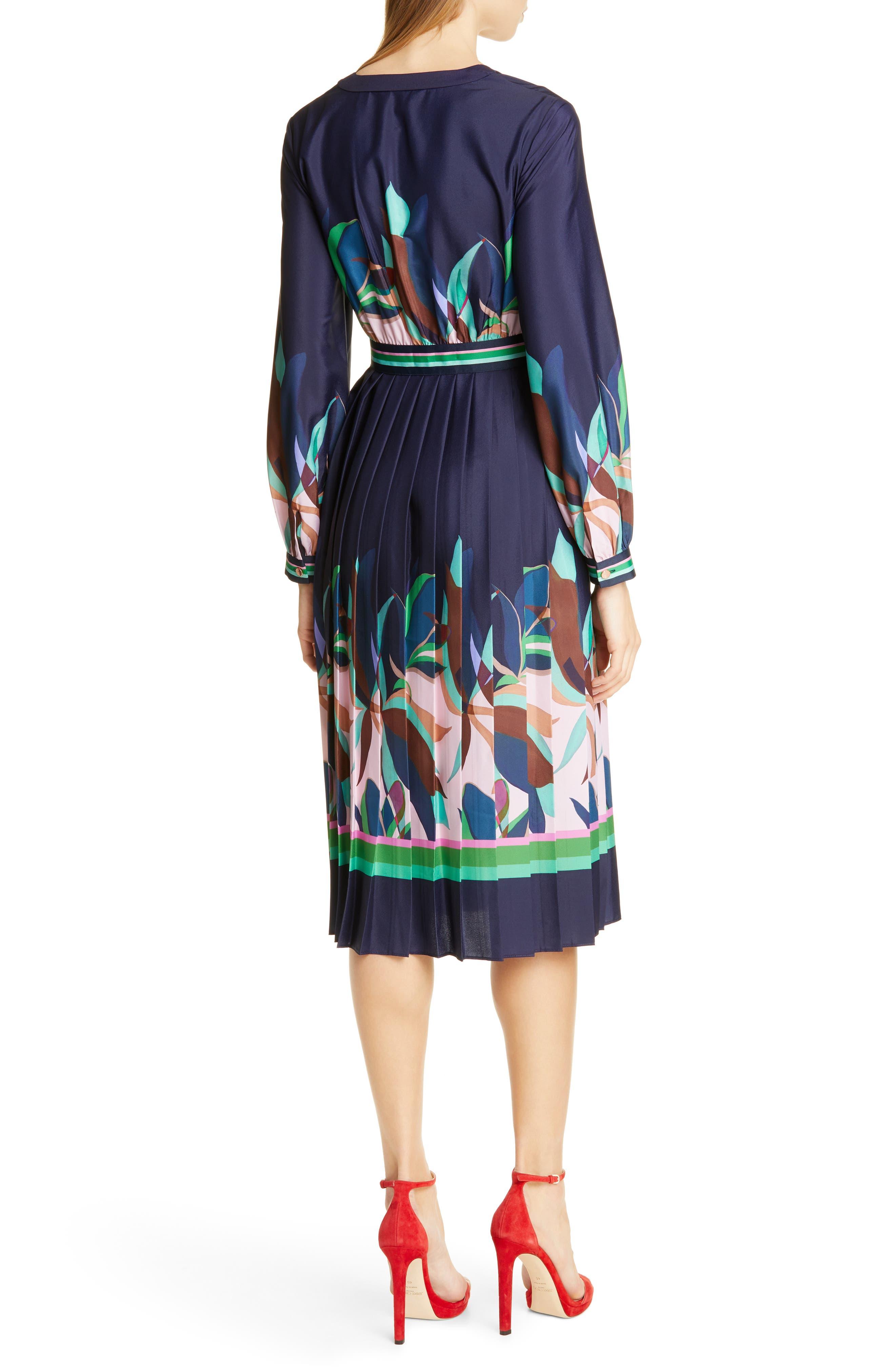 TED BAKER LONDON, Leonore Supernatural Fit & Flare Dress, Alternate thumbnail 2, color, NAVY