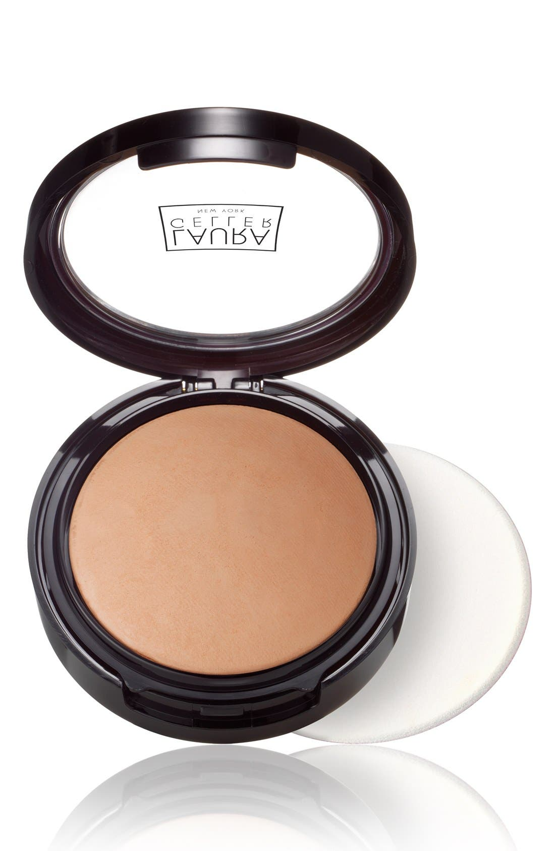 LAURA GELLER BEAUTY, Double Take Baked Versatile Powder Foundation, Main thumbnail 1, color, TAN