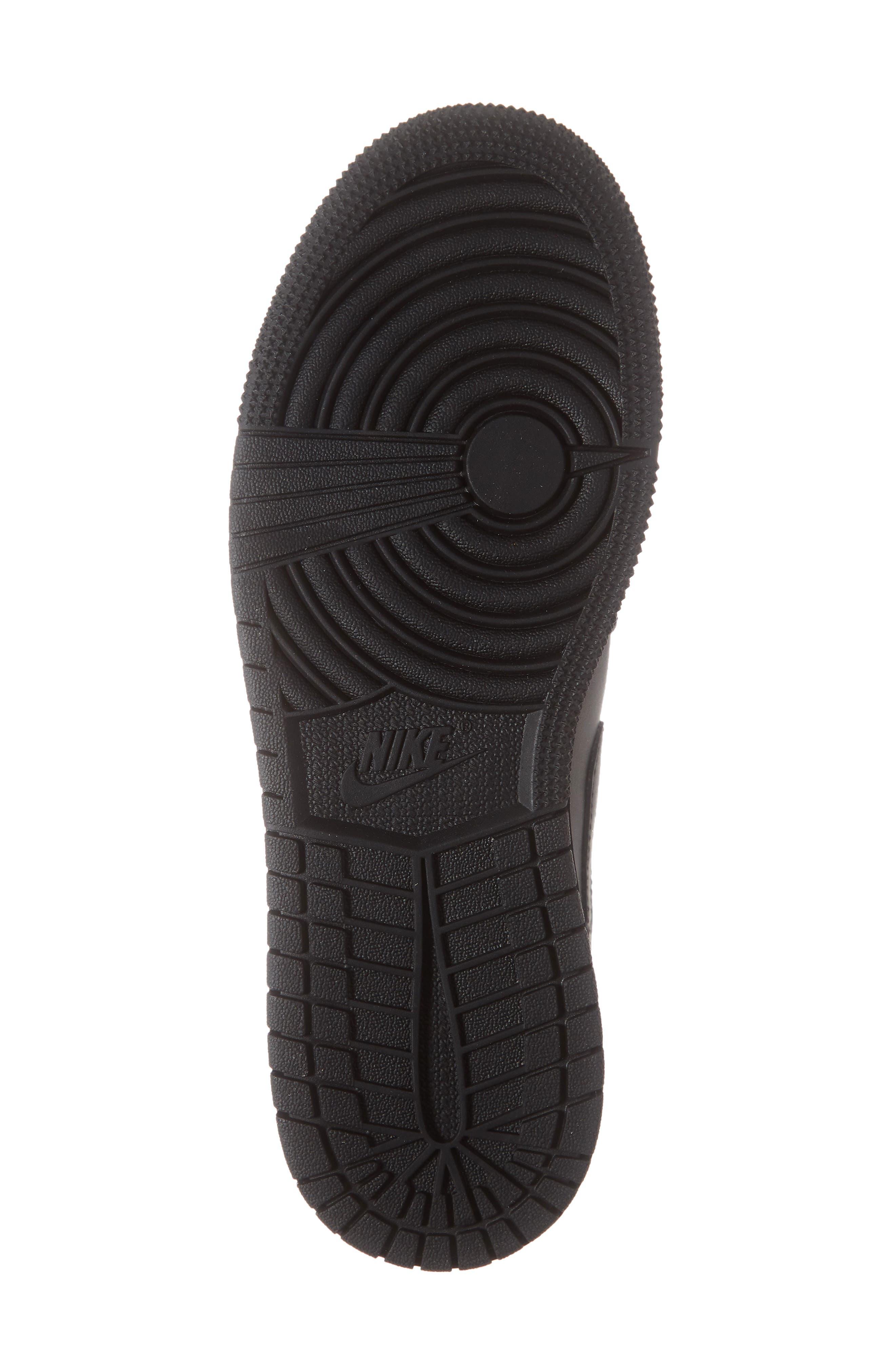 JORDAN, Nike 'Air Jordan 1 Low' Sneaker, Alternate thumbnail 6, color, BLACK/ WHITE/ BLACK