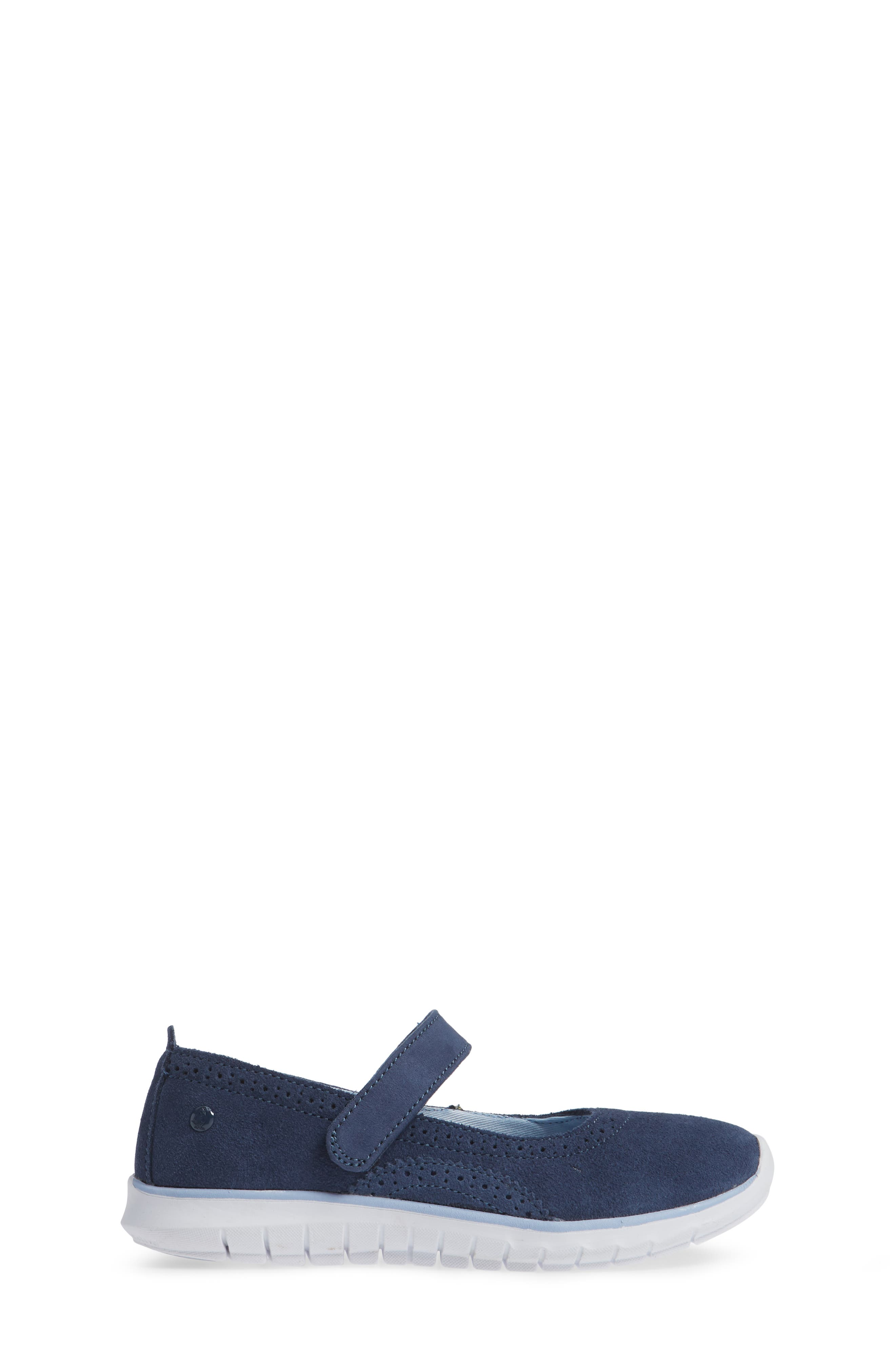 HUSH PUPPIES<SUP>®</SUP>, Flote Tricia Mary Jane Flat, Alternate thumbnail 3, color, NAVY