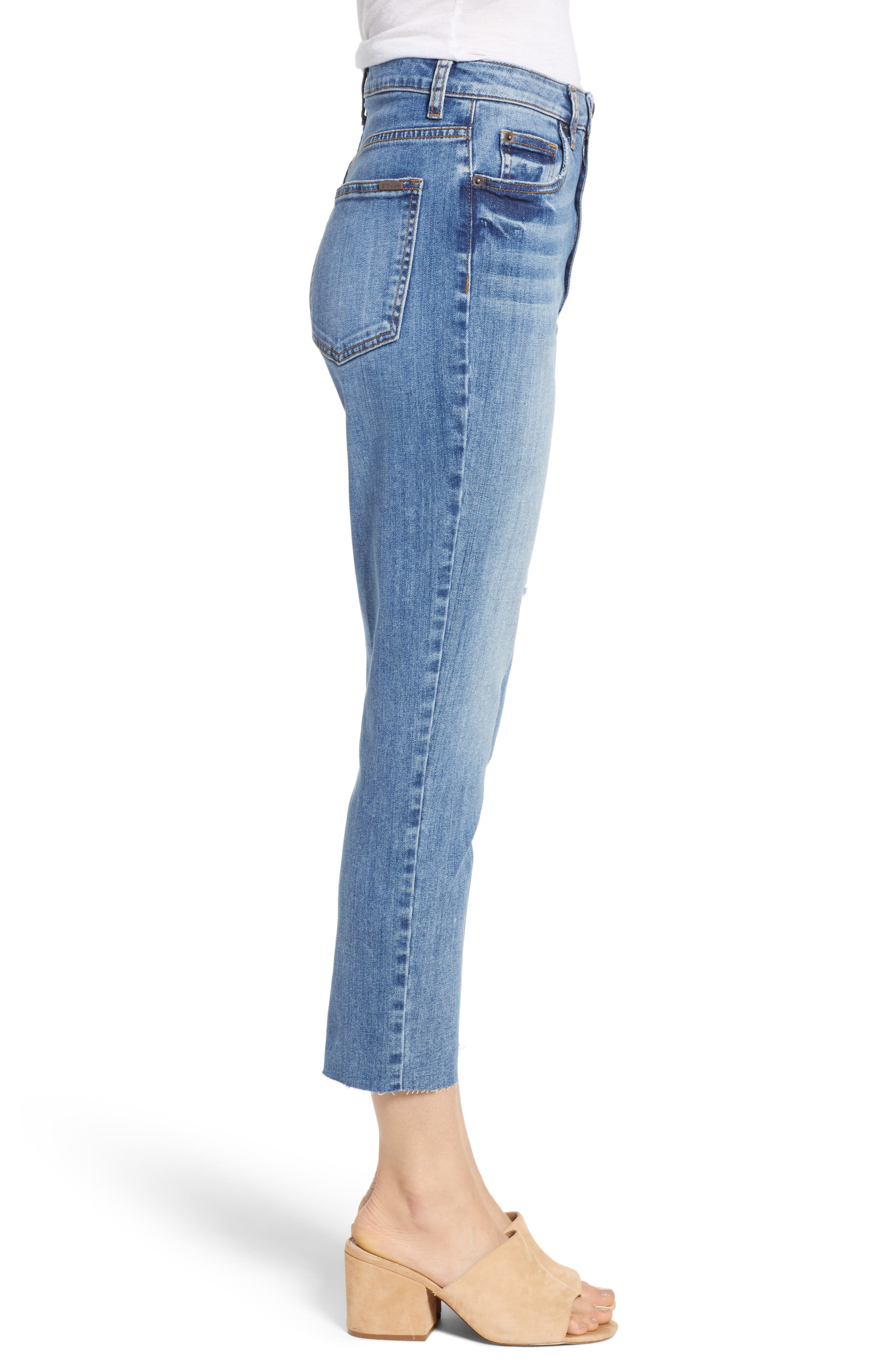 STS BLUE, Alicia High Waist Crop Mom Jeans, Alternate thumbnail 4, color, PROCTOR