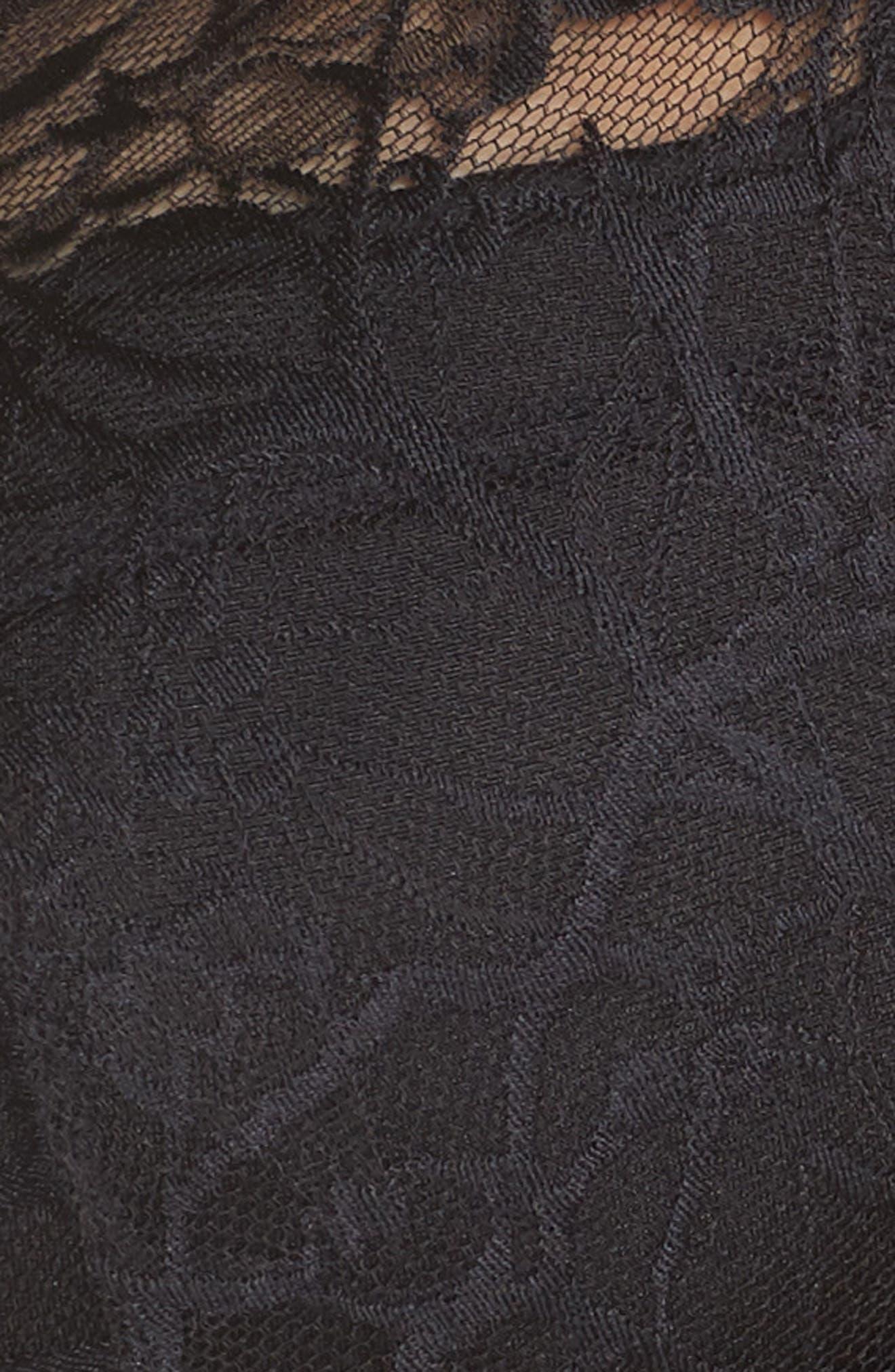 CHANTELLE LINGERIE, Segur Lace Underwire Push-Up Bra, Alternate thumbnail 7, color, BLACK