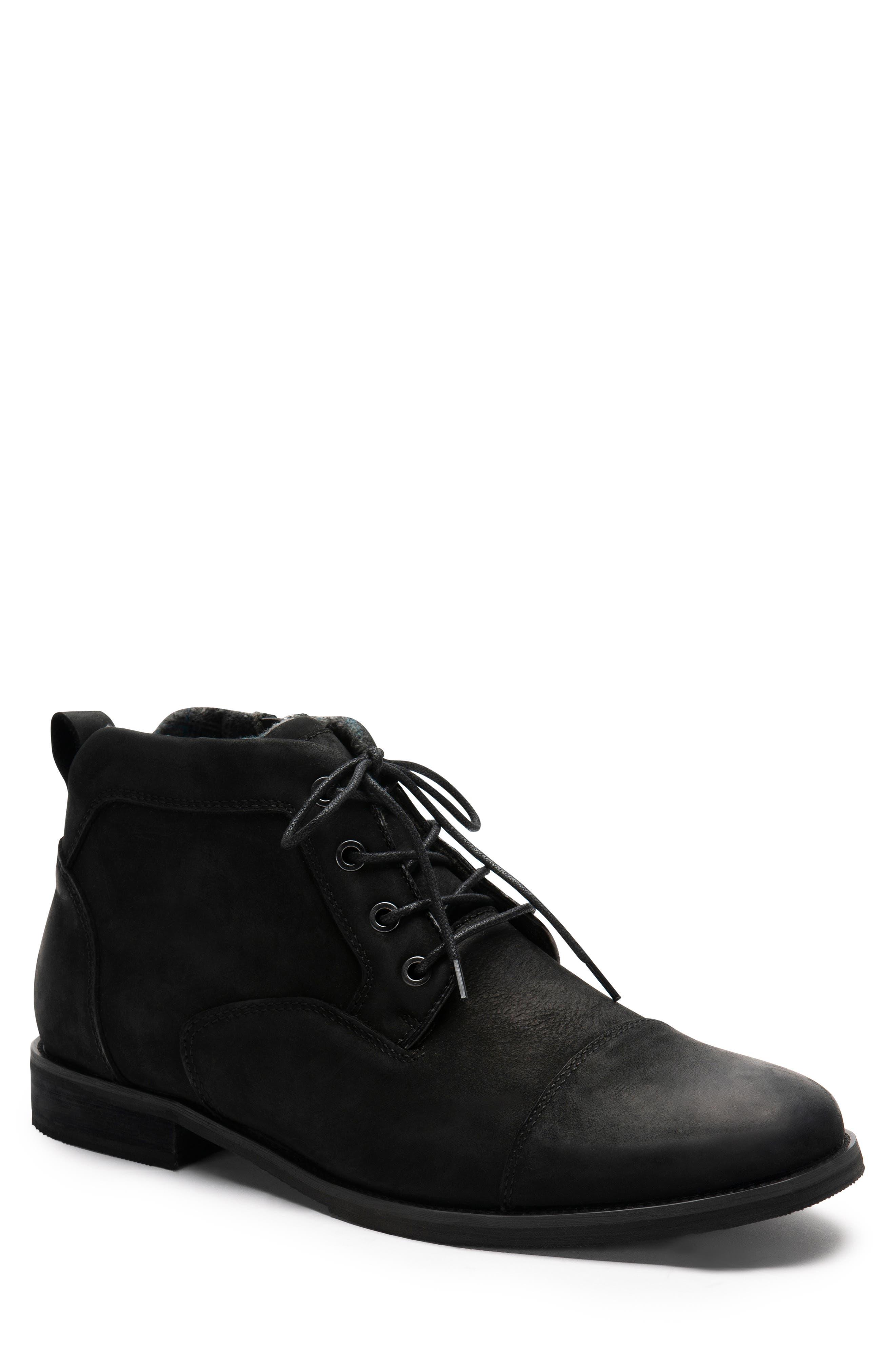 Blondo Bill Cap Toe Faux Fur Chukka Boot- Black