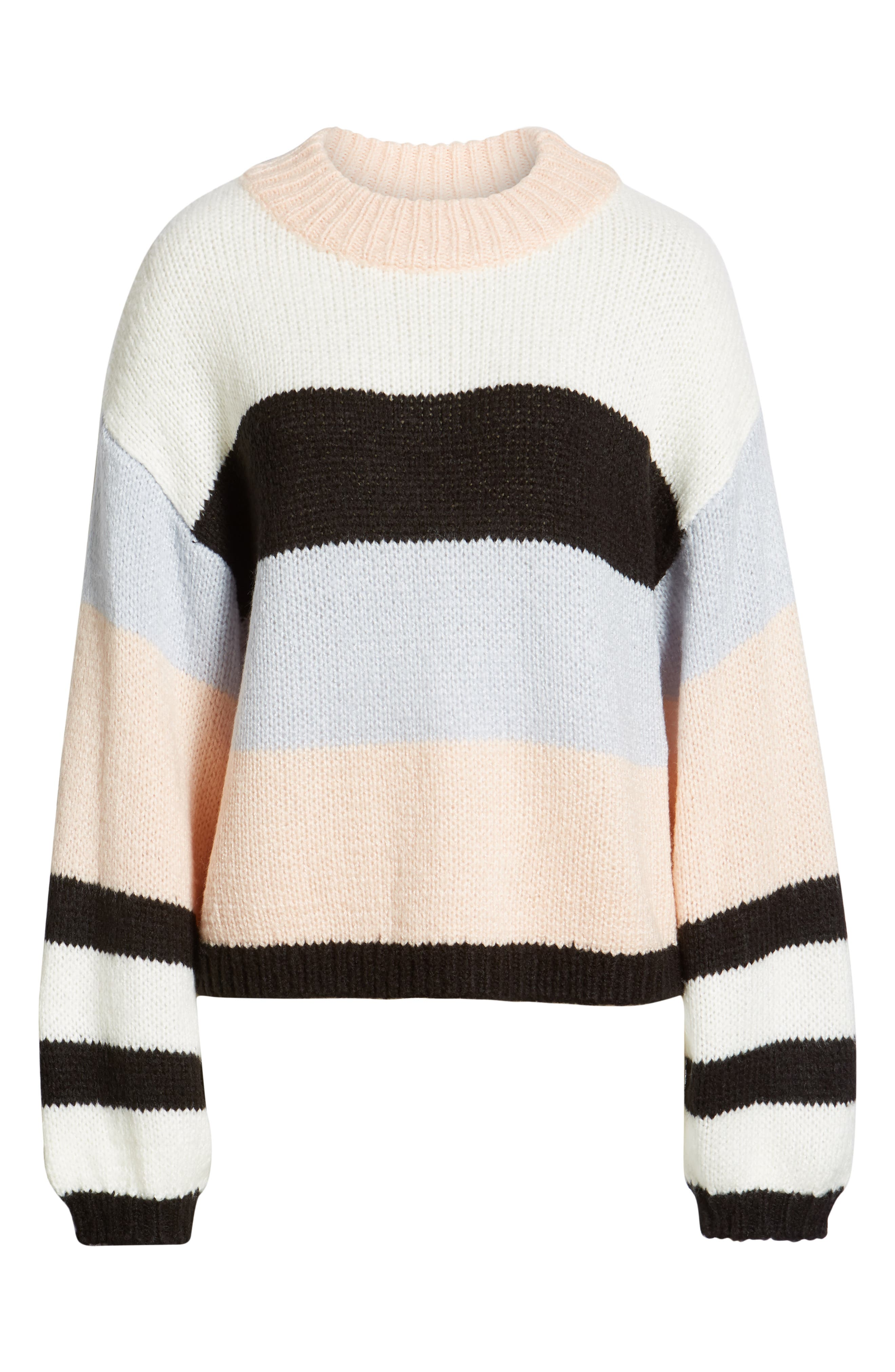 BP., Stripe Sweater, Alternate thumbnail 6, color, 660