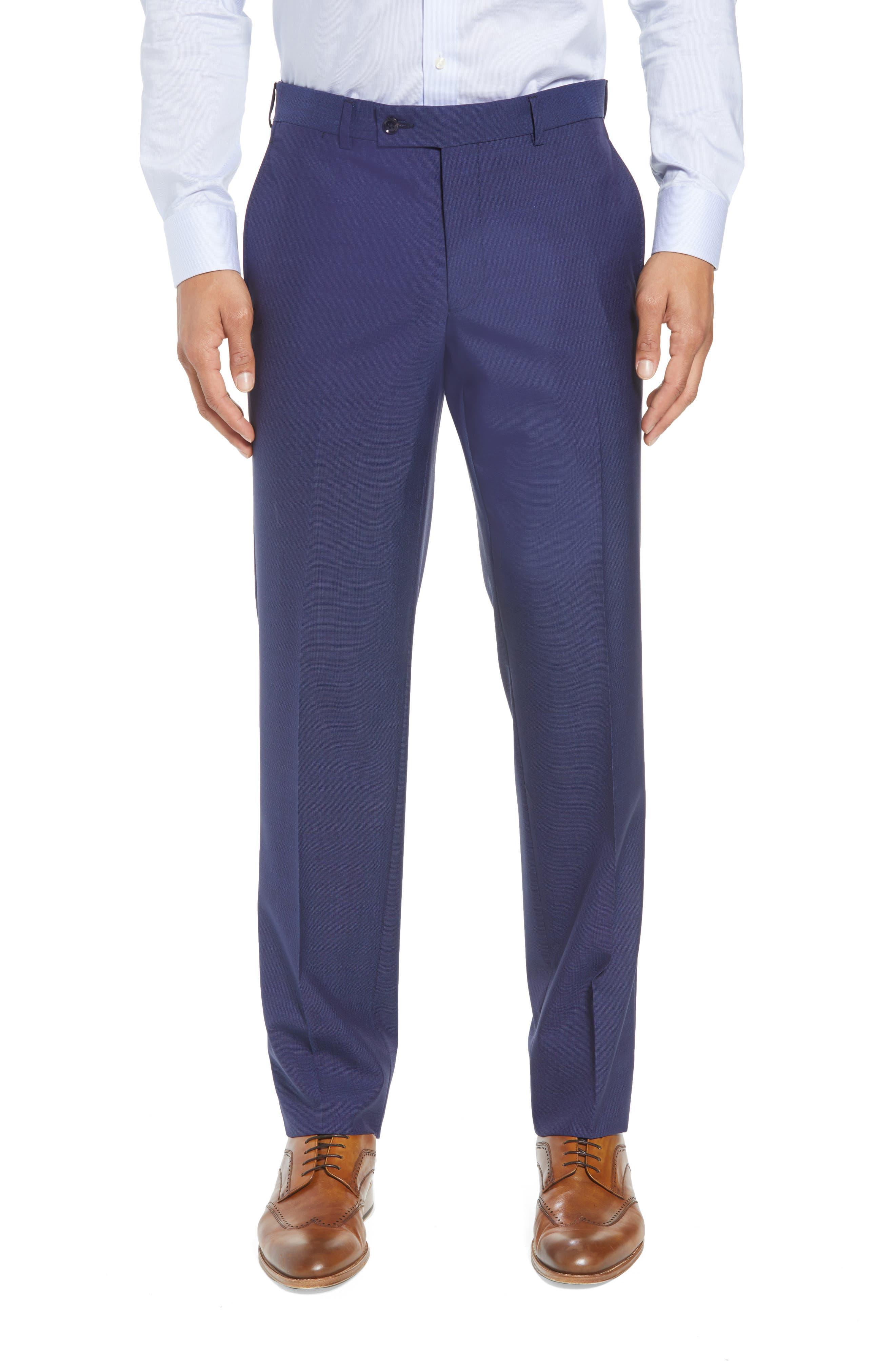 TED BAKER LONDON, Jay Trim Fit Suit, Alternate thumbnail 6, color, BLUE
