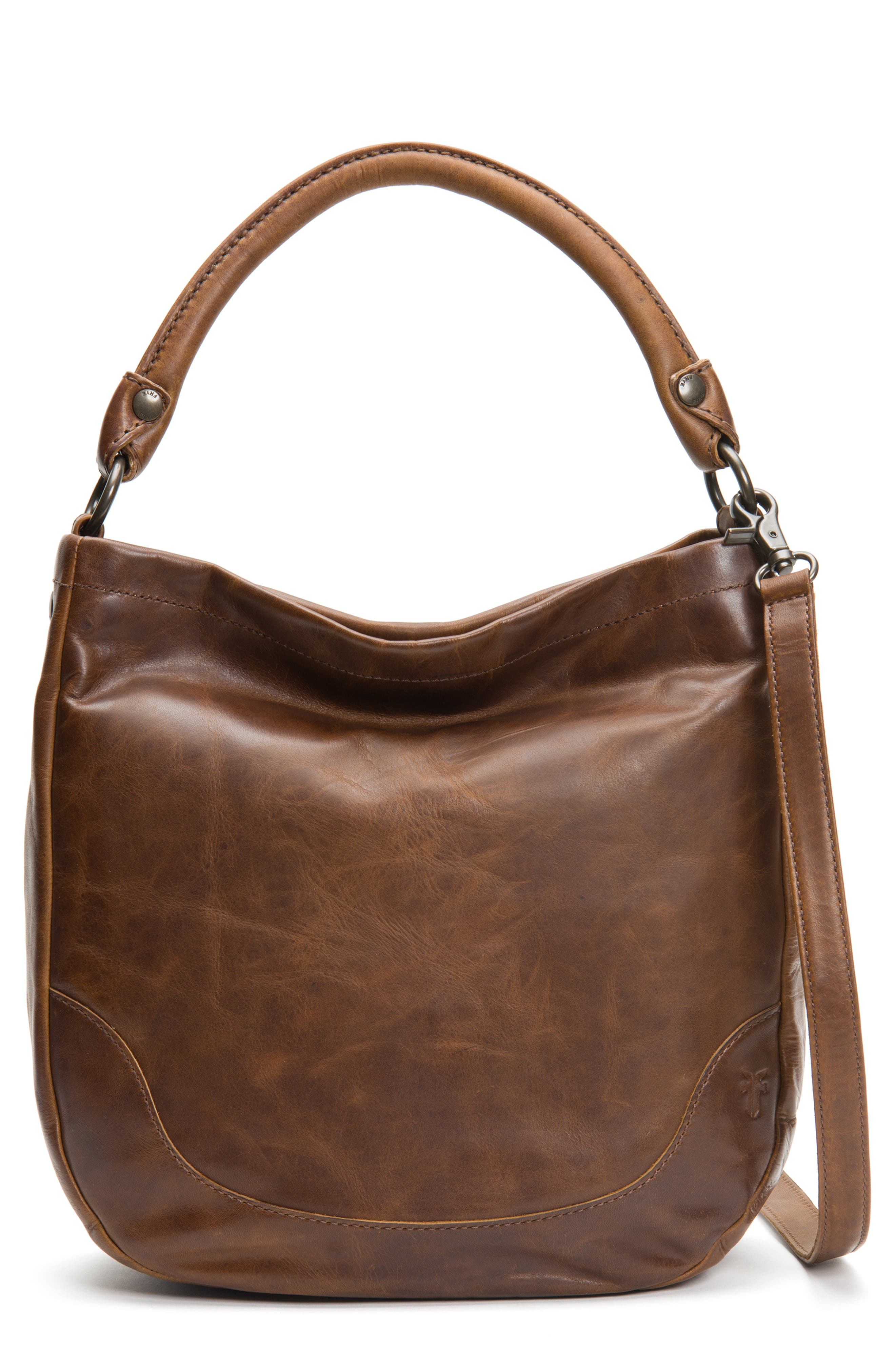 FRYE, Melissa Leather Hobo, Alternate thumbnail 2, color, DARK BROWN