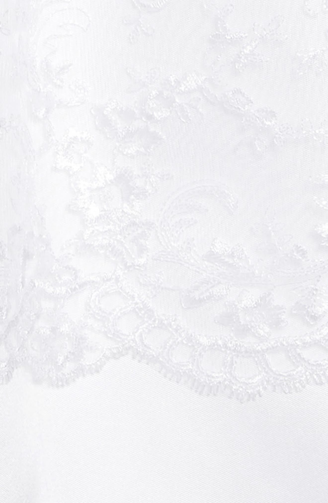 IRIS & IVY, Sweetheart Mikado Dress, Alternate thumbnail 3, color, WHITE