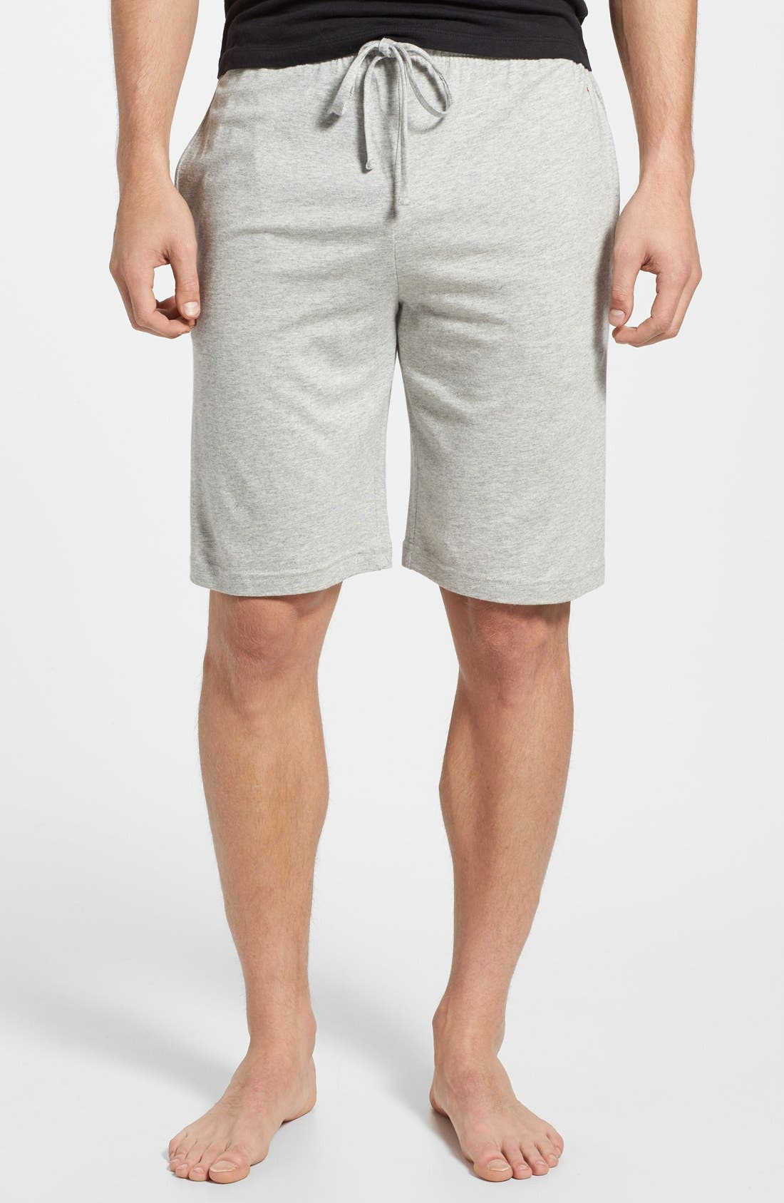 POLO RALPH LAUREN, Sleep Shorts, Main thumbnail 1, color, ANDOVER HEATHER