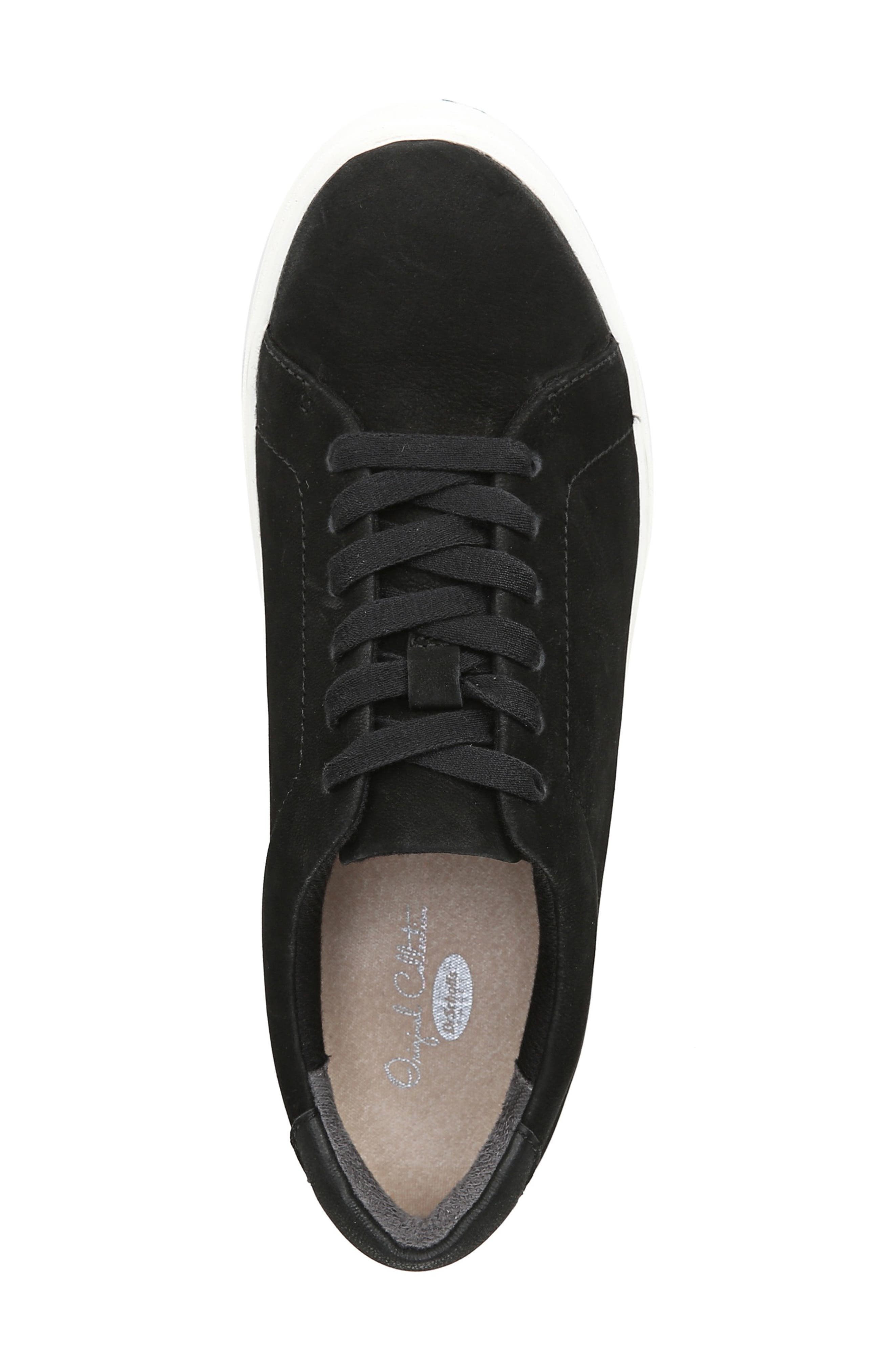DR. SCHOLL'S, Abbot Luxe Platform Sneaker, Alternate thumbnail 5, color, BLACK SUEDE