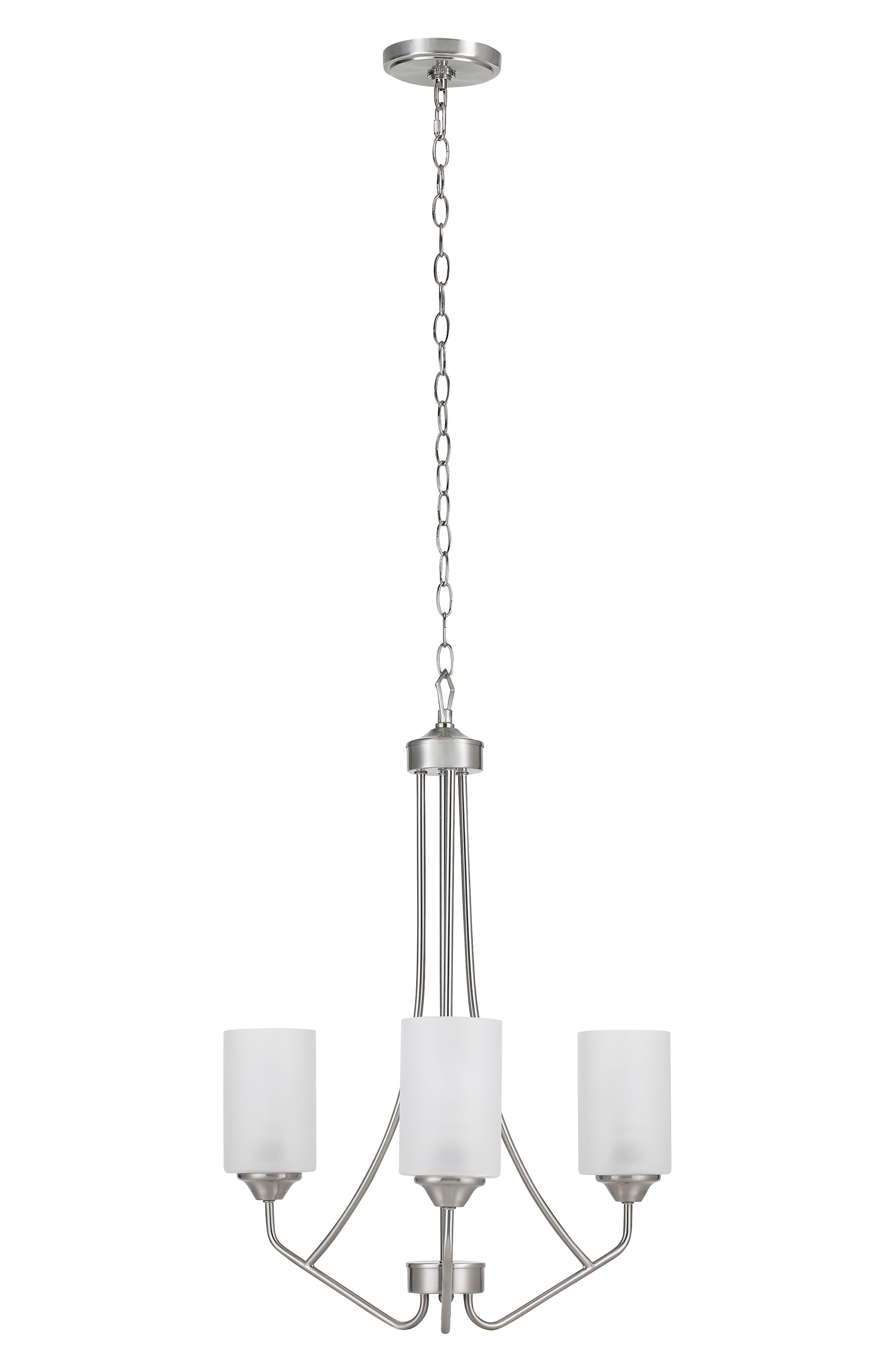 Jalexander Lighting Harper ThreeLight Chandelier Size One Size  Metallic