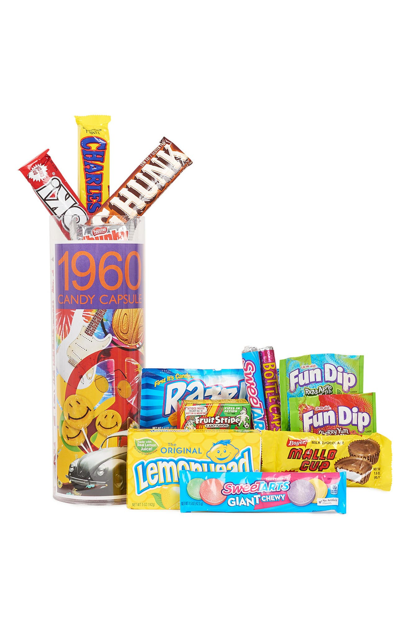 DYLAN'S CANDY BAR, 1960s Time Capsule Gift Set, Alternate thumbnail 2, color, 500
