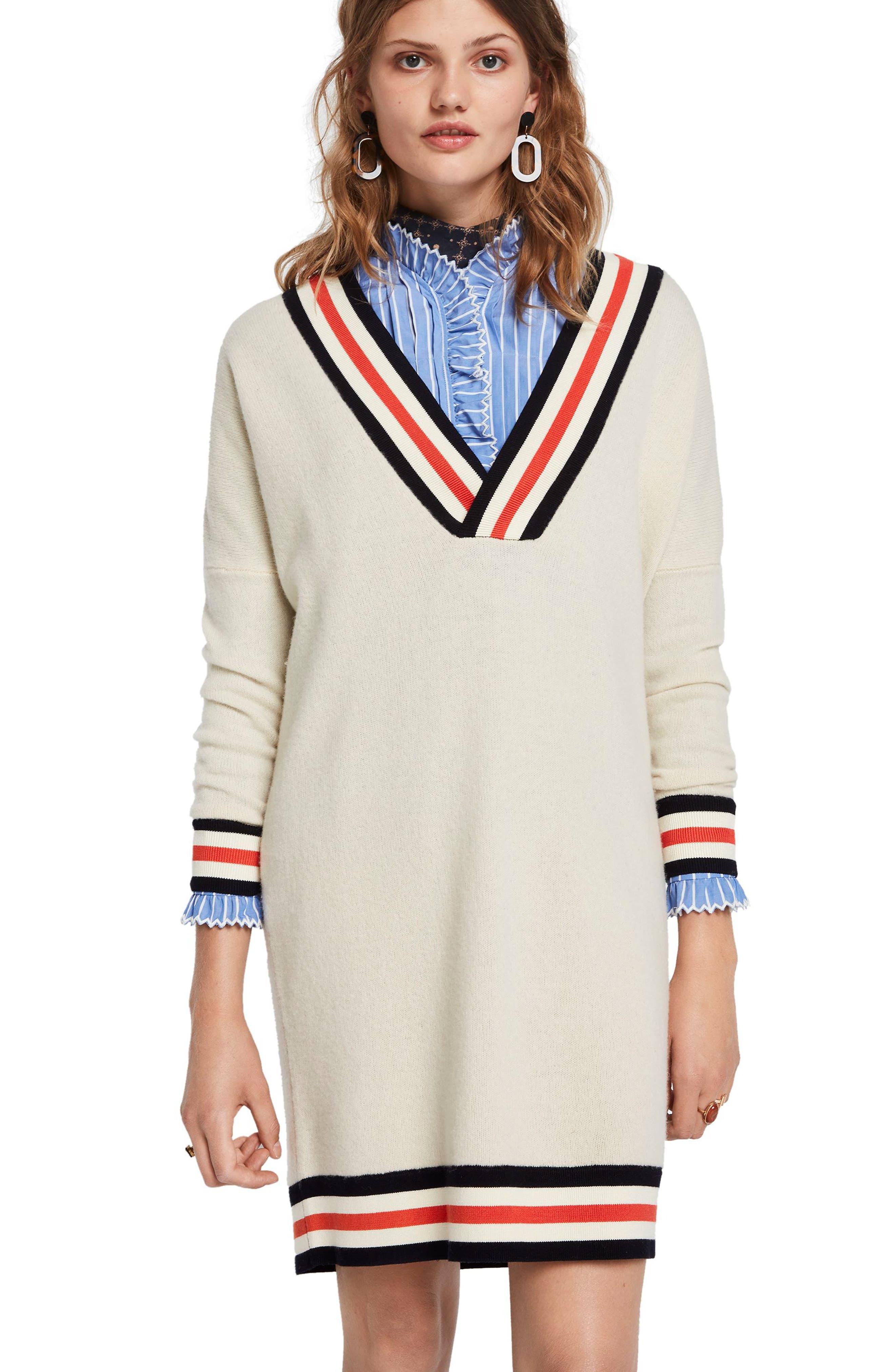 SCOTCH & SODA, Luxury Lambswool Longline Sweater, Alternate thumbnail 4, color, 250