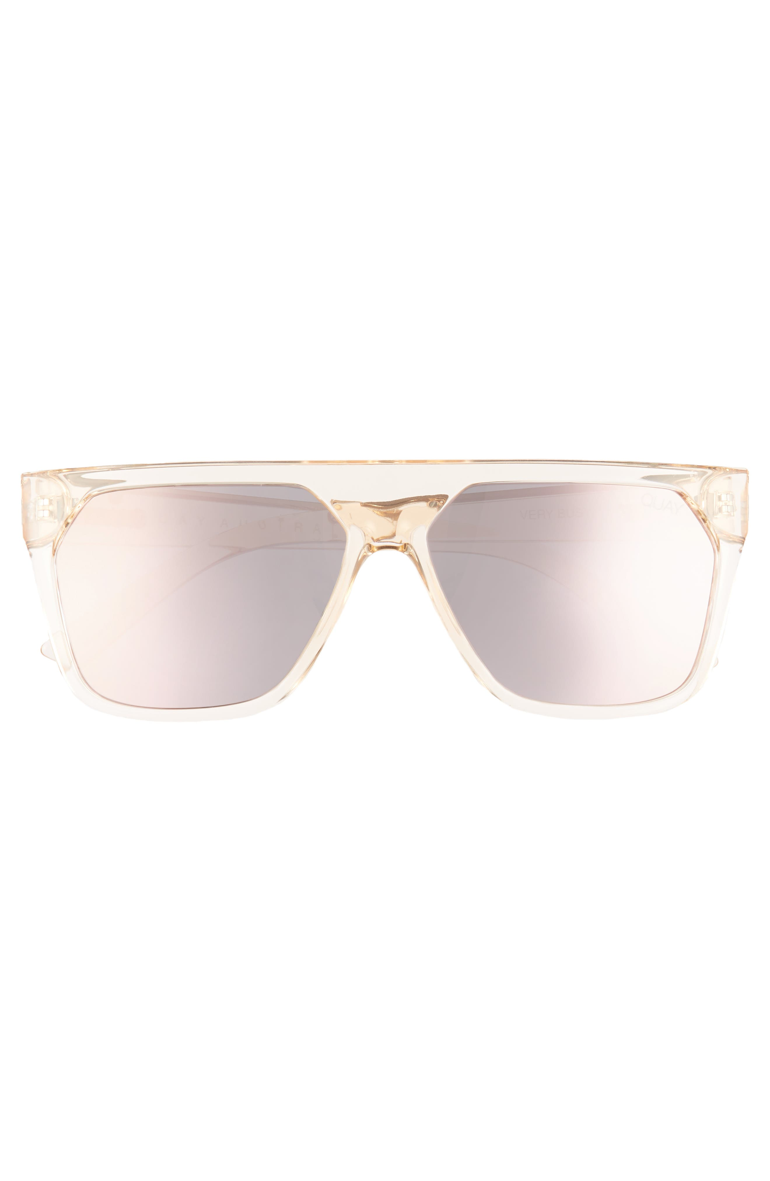 QUAY AUSTRALIA, x Jaclyn Hill Very Busy 58mm Shield Sunglasses, Alternate thumbnail 4, color, CHAMPAGNE / ROSE