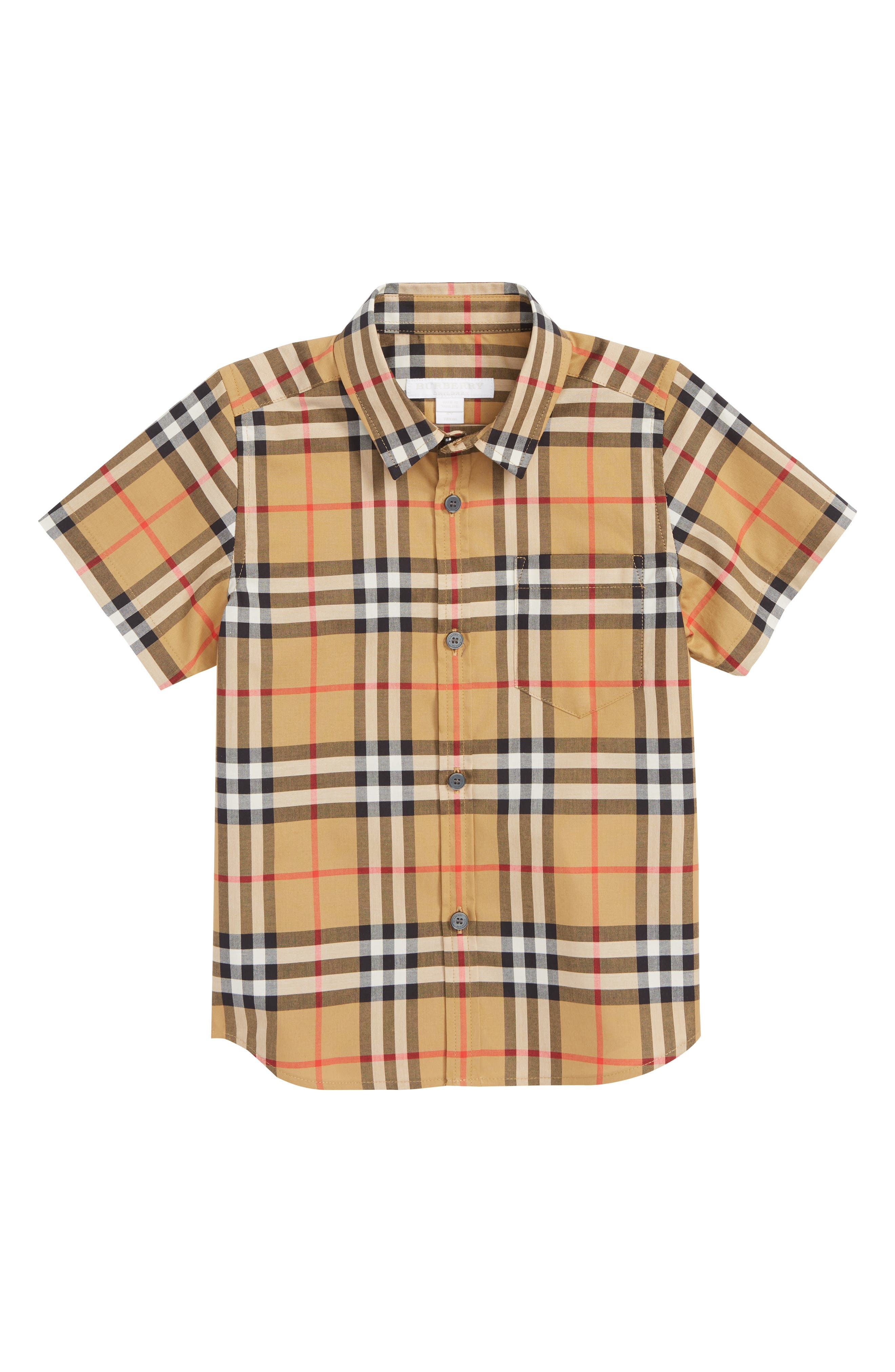 BURBERRY Fred Check Shirt, Main, color, 701