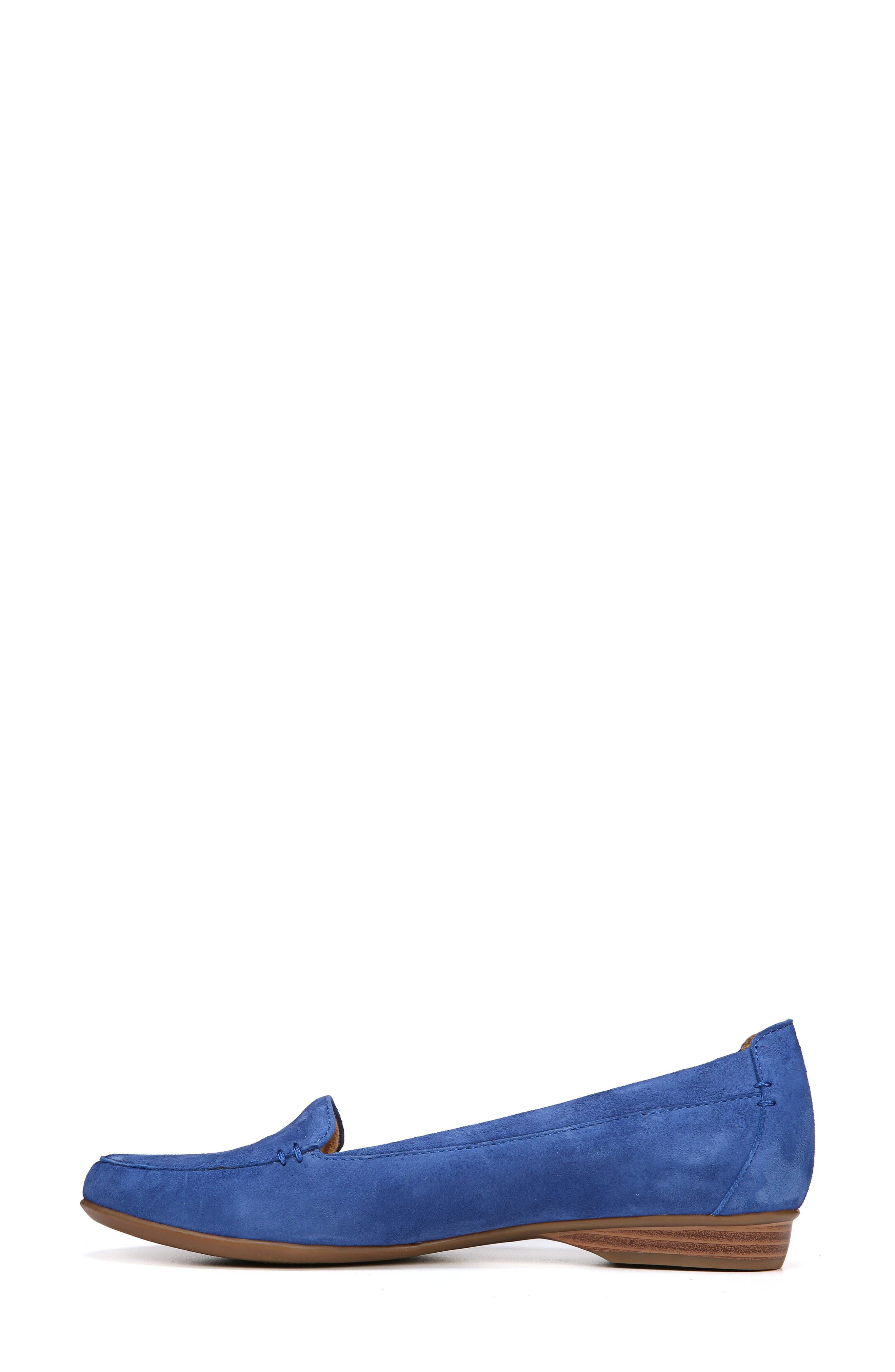 NATURALIZER, 'Saban' Leather Loafer, Alternate thumbnail 8, color, FRENCH BLUE SUEDE