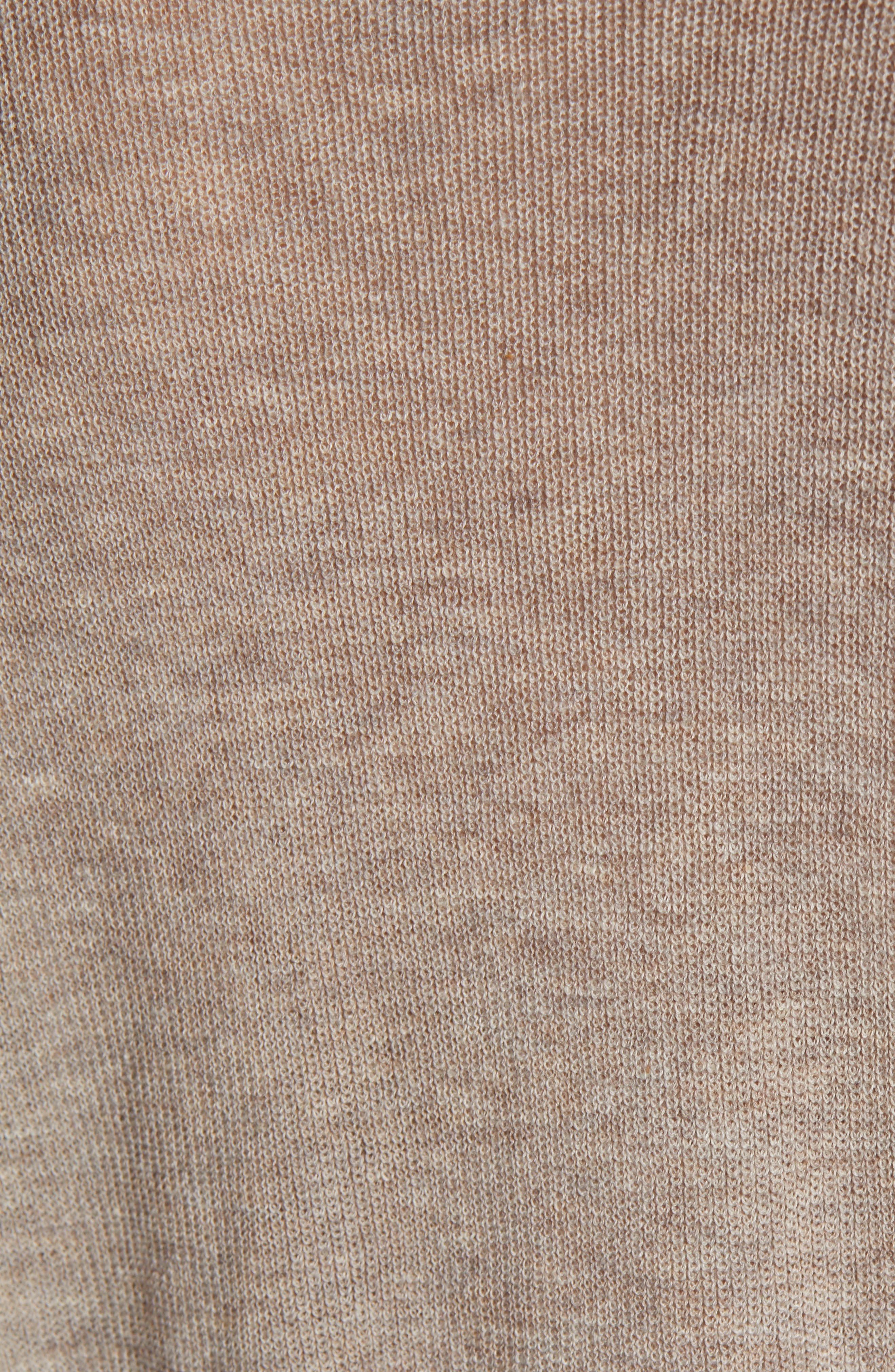 VELVET BY GRAHAM & SPENCER, V-Neck Sweater, Alternate thumbnail 5, color, FLAX