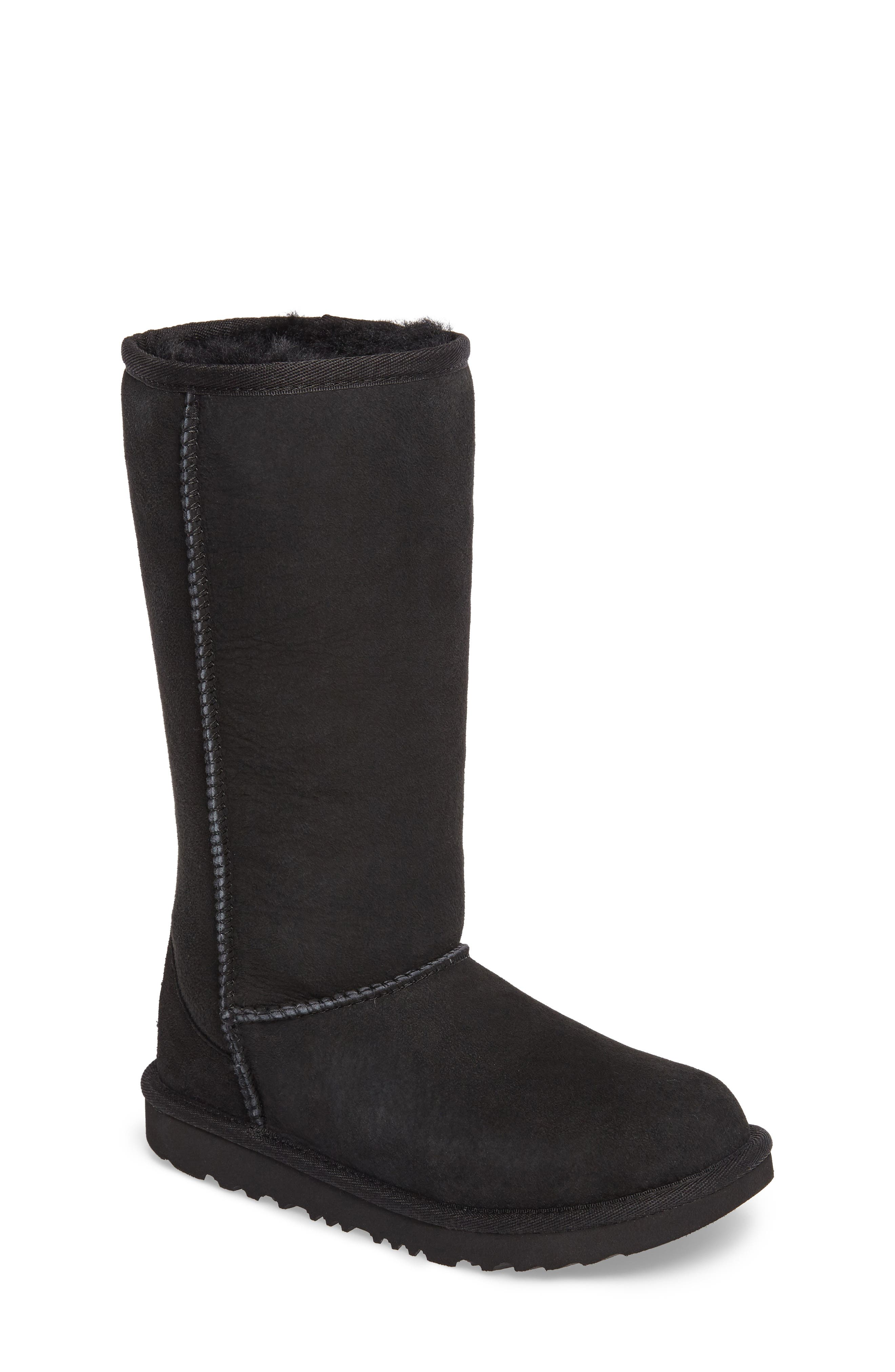 UGG<SUP>®</SUP>, Classic II Water-Resistant Tall Boot, Main thumbnail 1, color, BLACK
