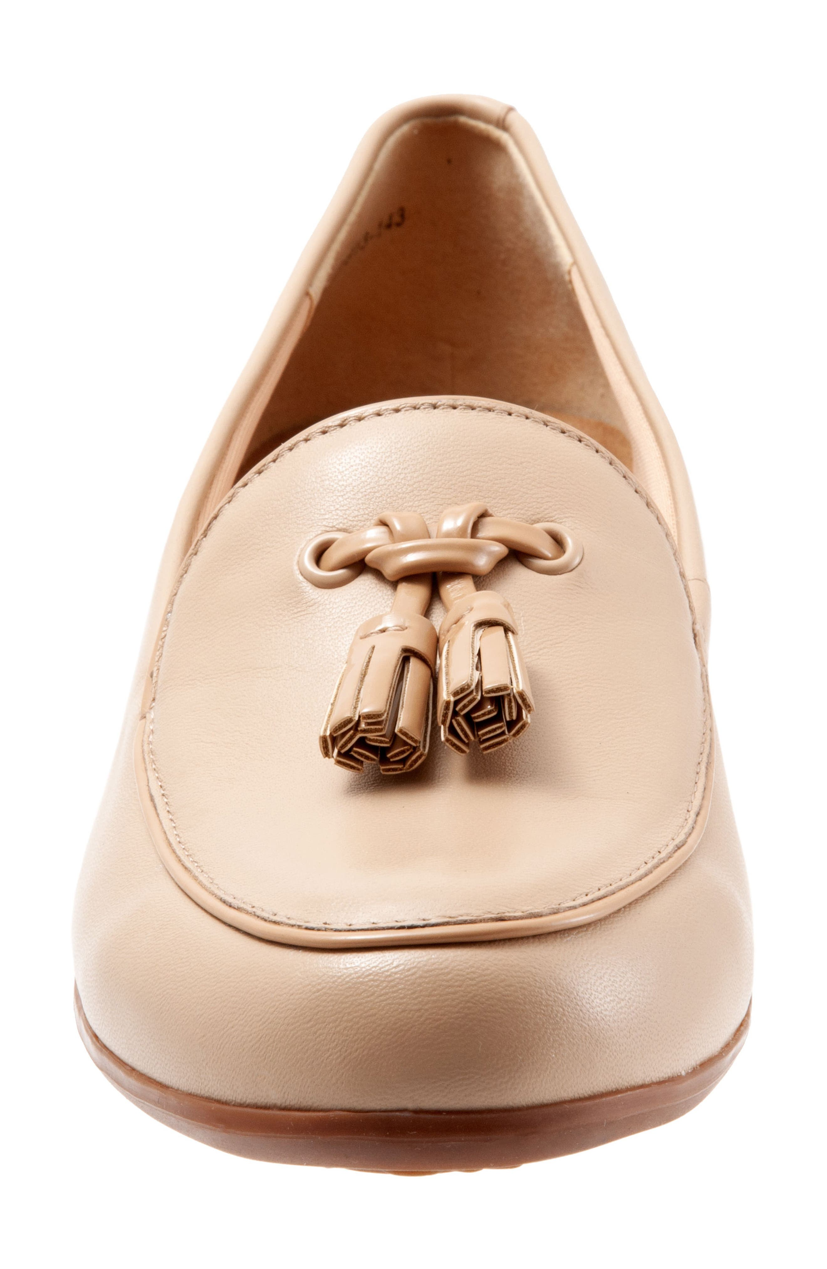TROTTERS, Mary Tassel Loafer, Alternate thumbnail 4, color, NUDE LEATHER