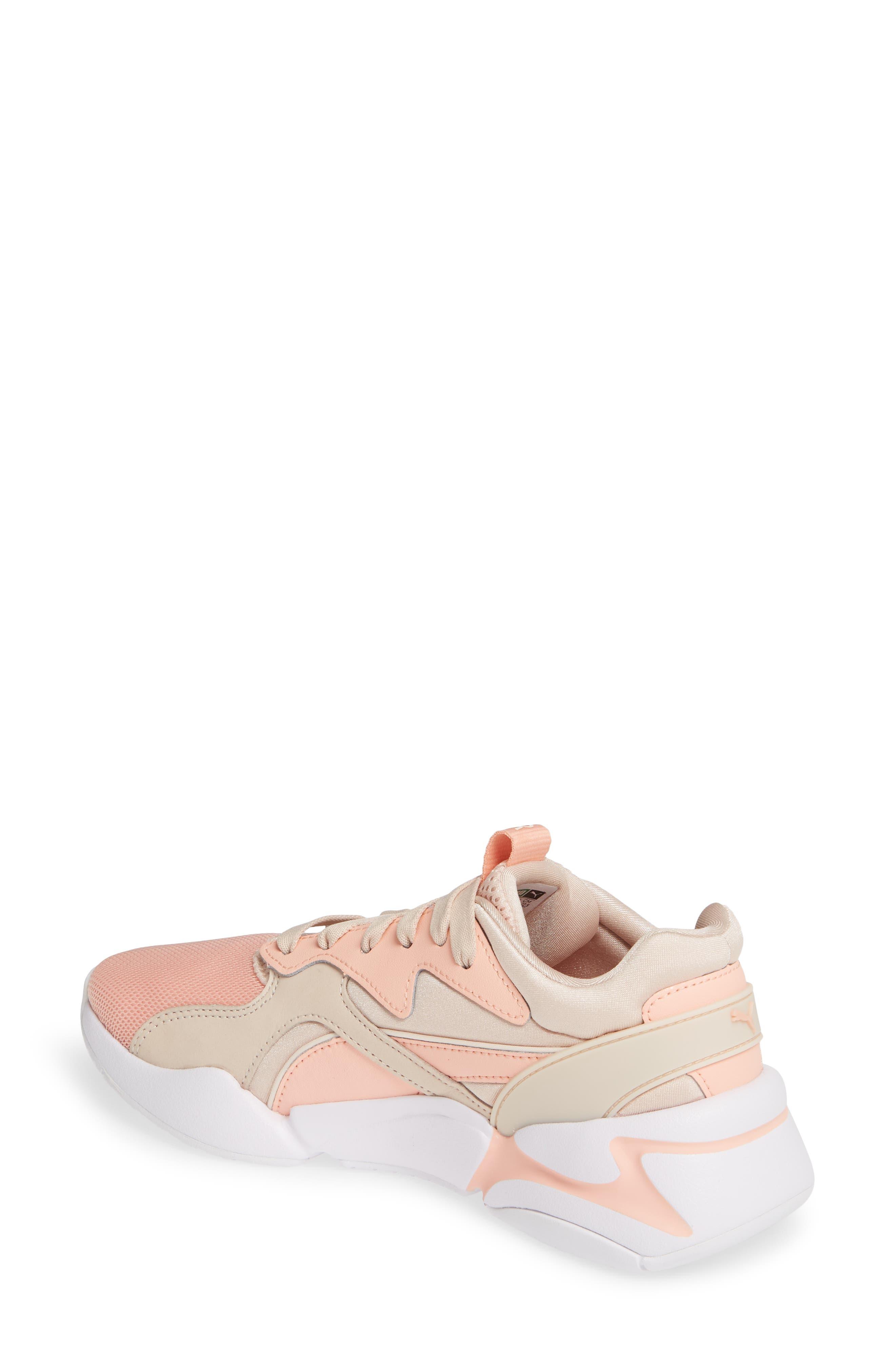 PUMA, Nova GRL PWR Sneaker, Alternate thumbnail 2, color, PEACH BUD/ PEARL BLUSH