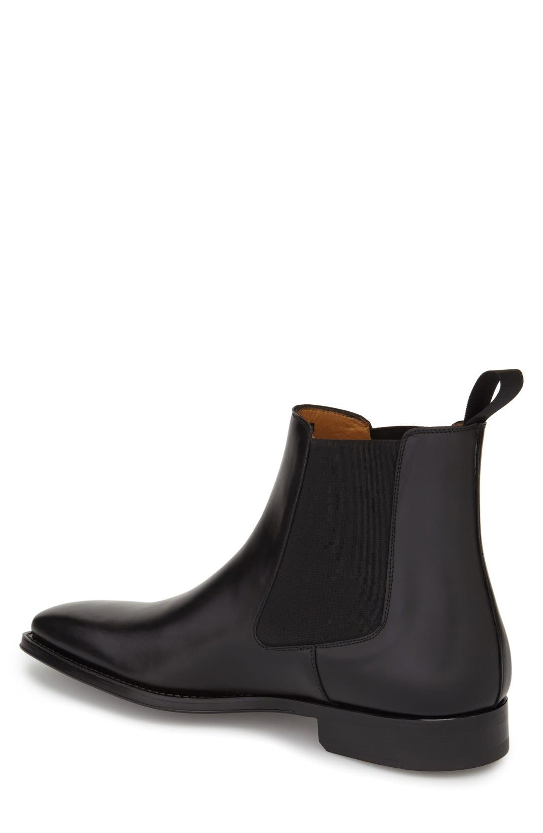 MAGNANNI, 'Sean' Chelsea Boot, Alternate thumbnail 2, color, BLACK