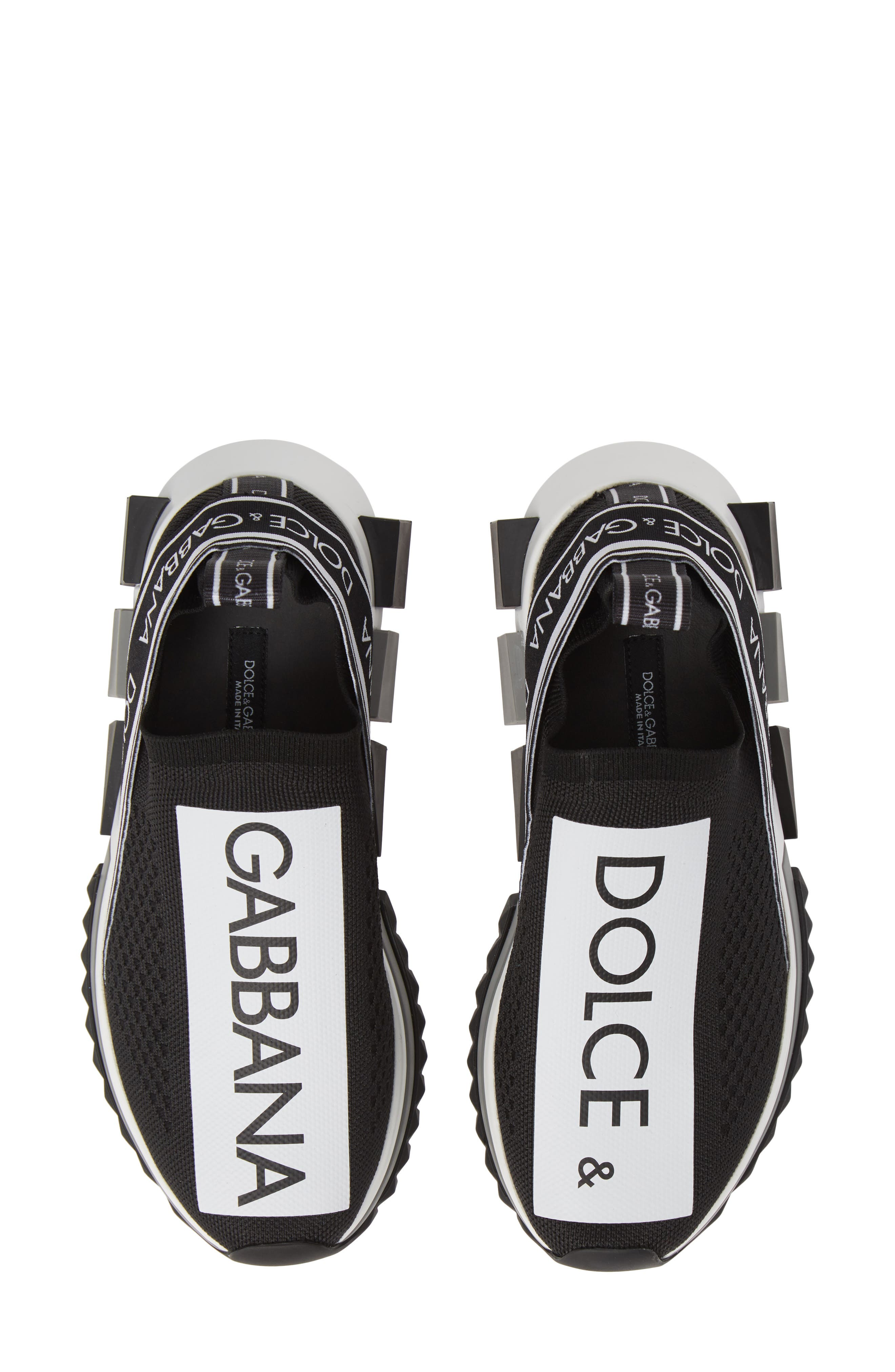 DOLCE&GABBANA, Sorrento Logo Slip-On Sneaker, Main thumbnail 1, color, 002